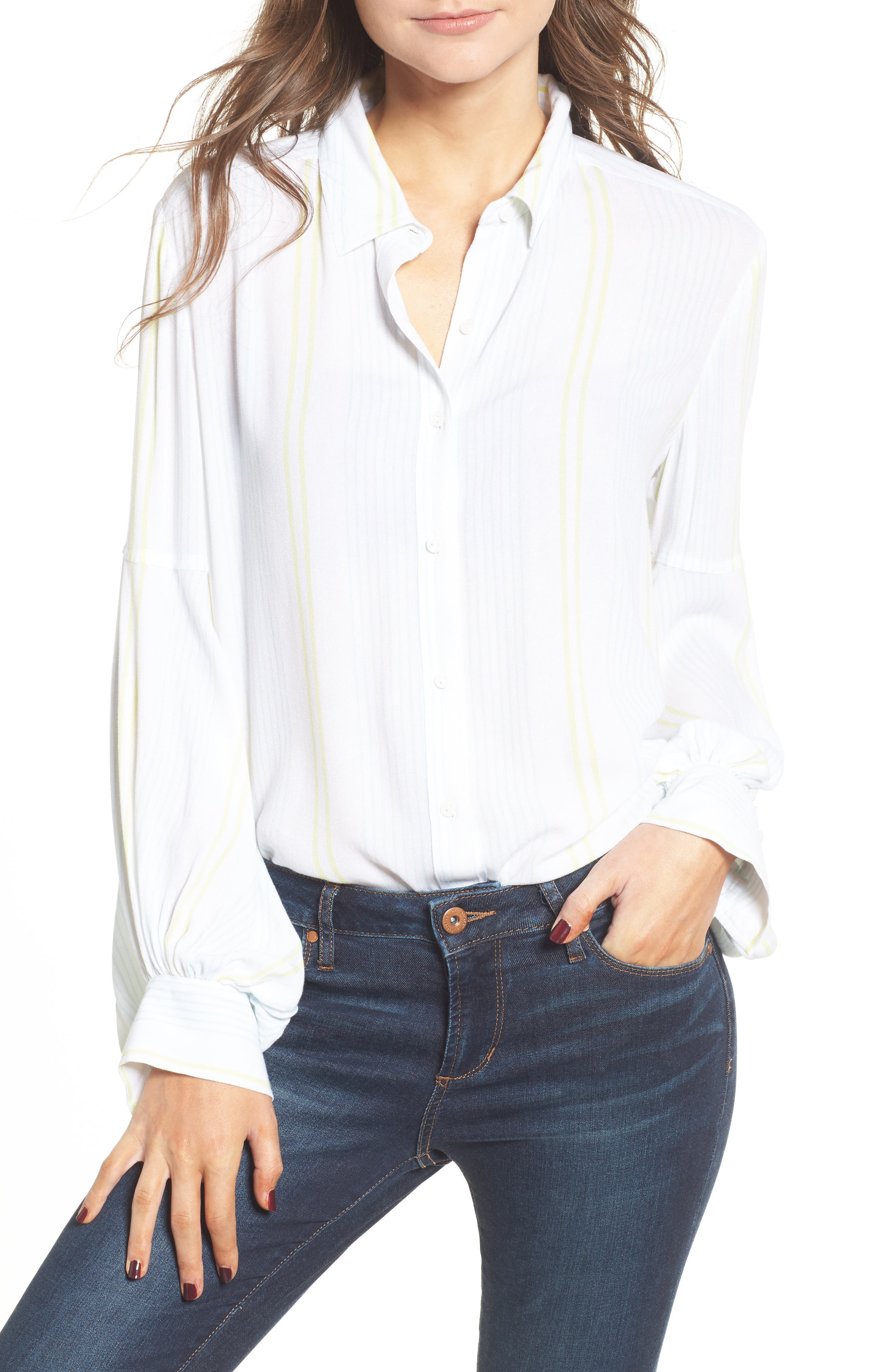 Blouson Sleeve Shirt,                             Main thumbnail 1, color,                             101