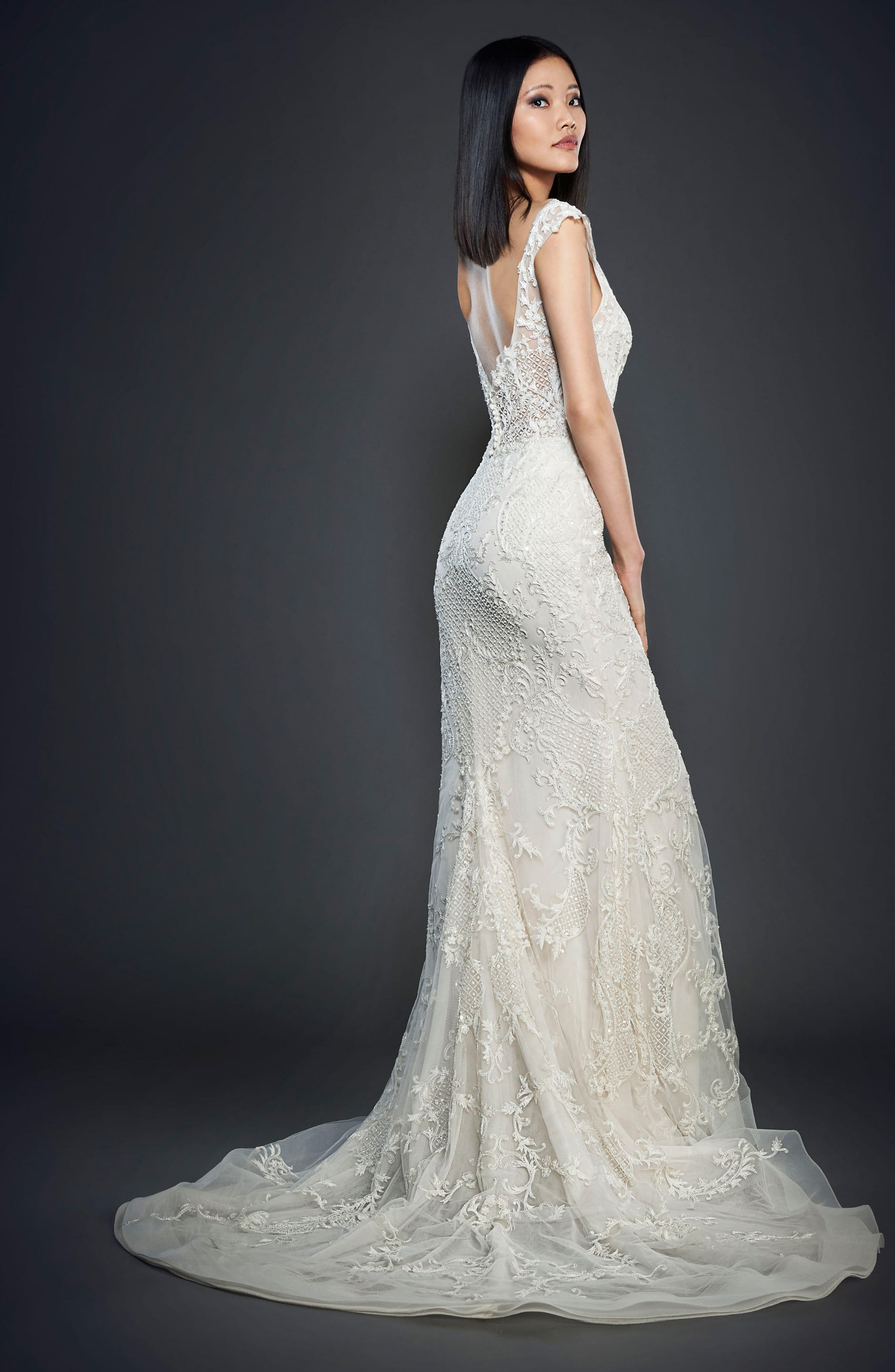 Embroidered Off the Shoulder Gown,                             Alternate thumbnail 2, color,                             900