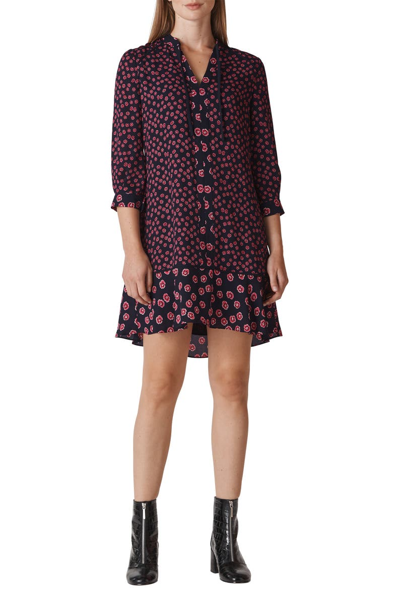Whistles Isabella Print Shirt Dress In Pink Multi Modesens