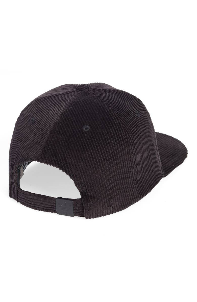 53e8babedc6 Shop Adidas Originals Relaxed Corduroy Cap - Black In Black  White