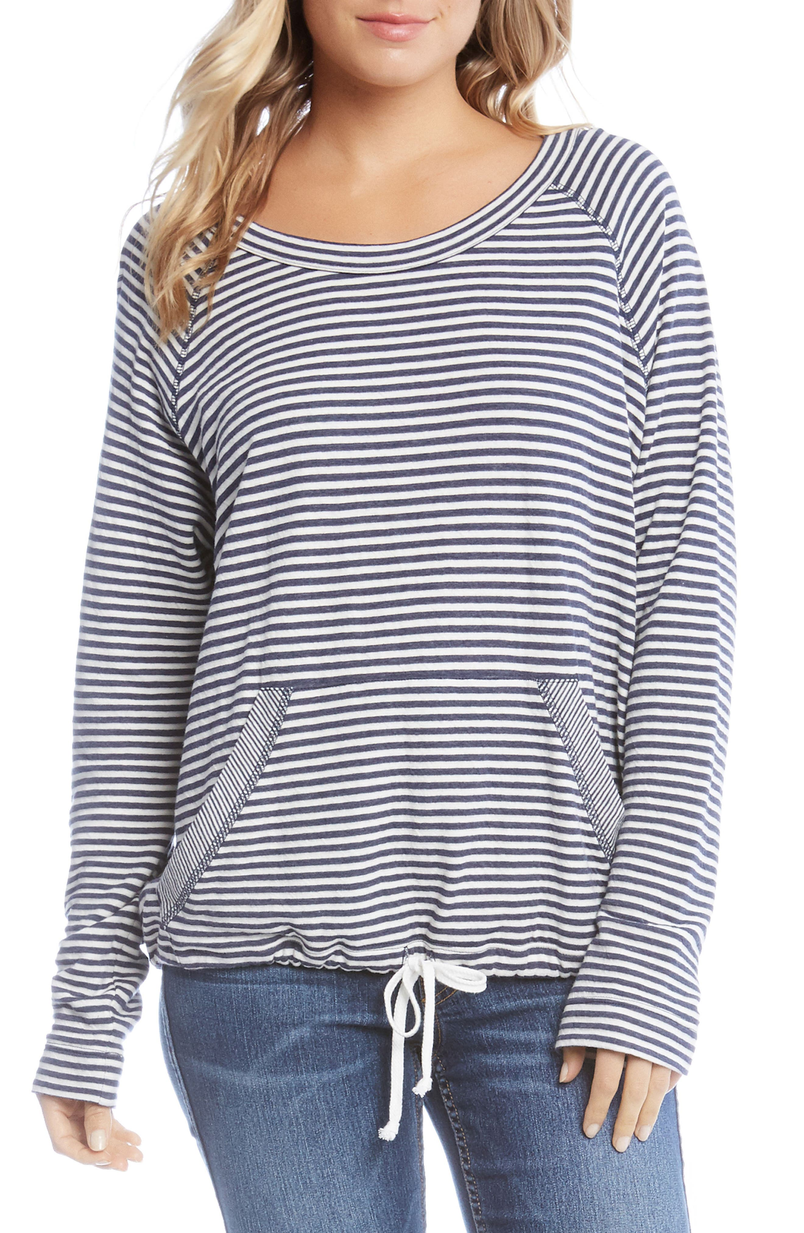 Stripe Drawstring Top,                         Main,                         color, 009