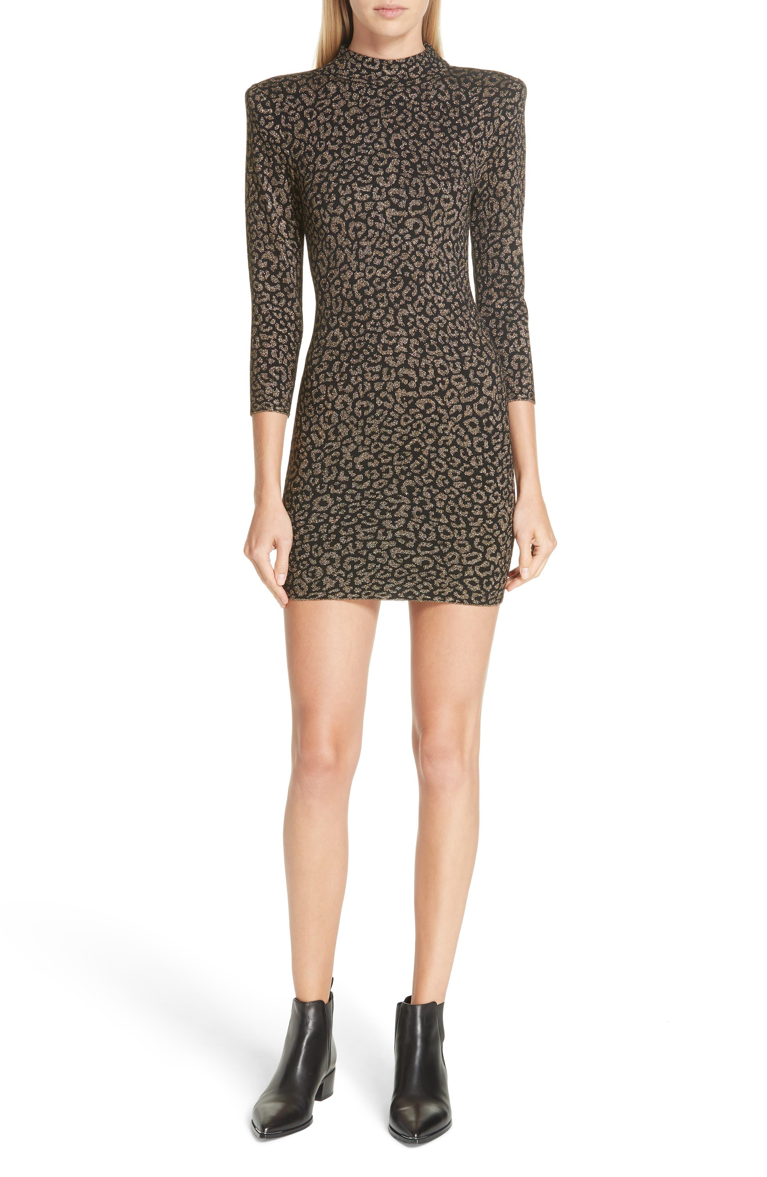 A.l.c. Mahry Metallic Leopard Print Dress