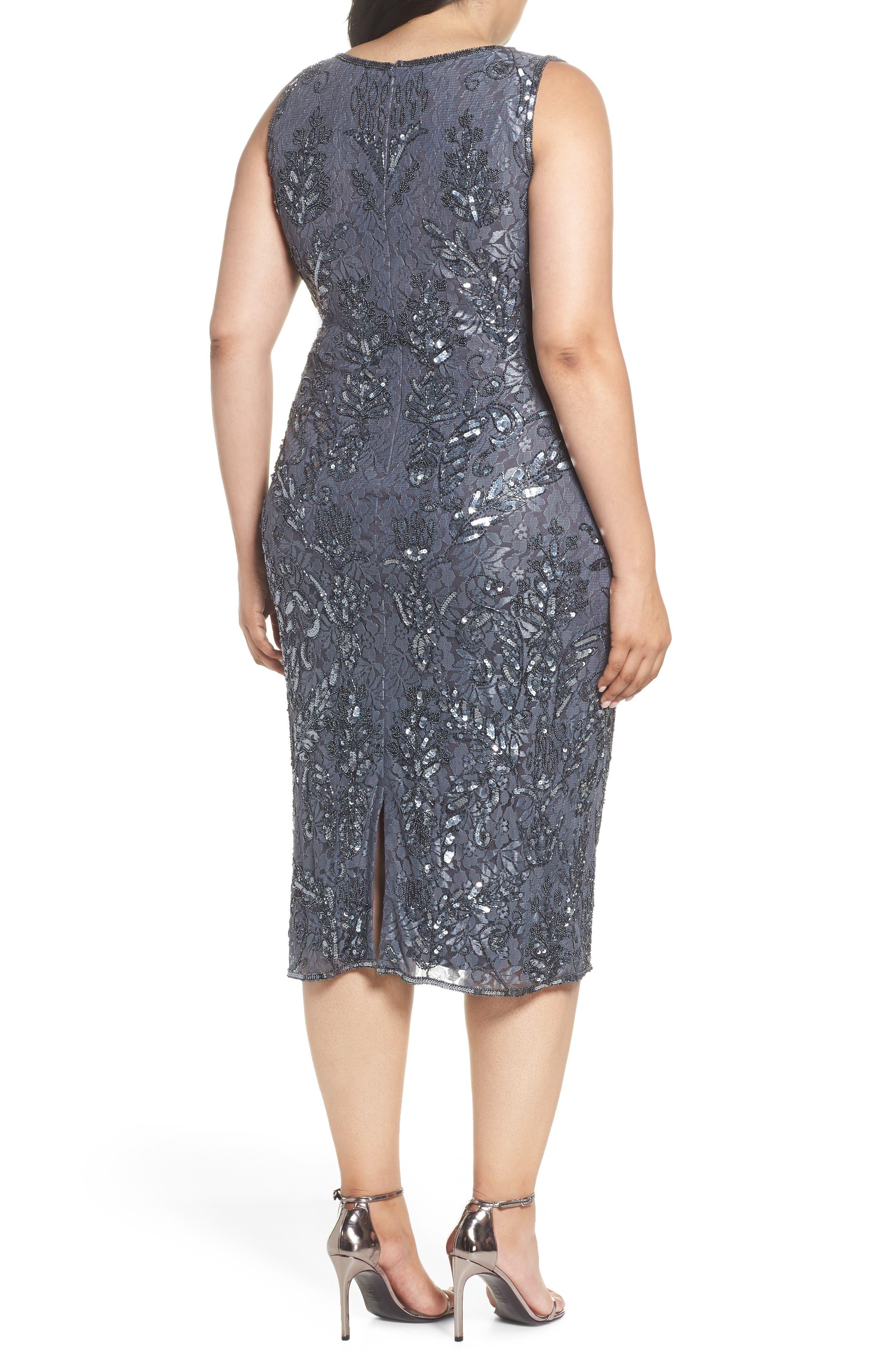 Sequin Lace Sheath Dress,                             Alternate thumbnail 2, color,                             020