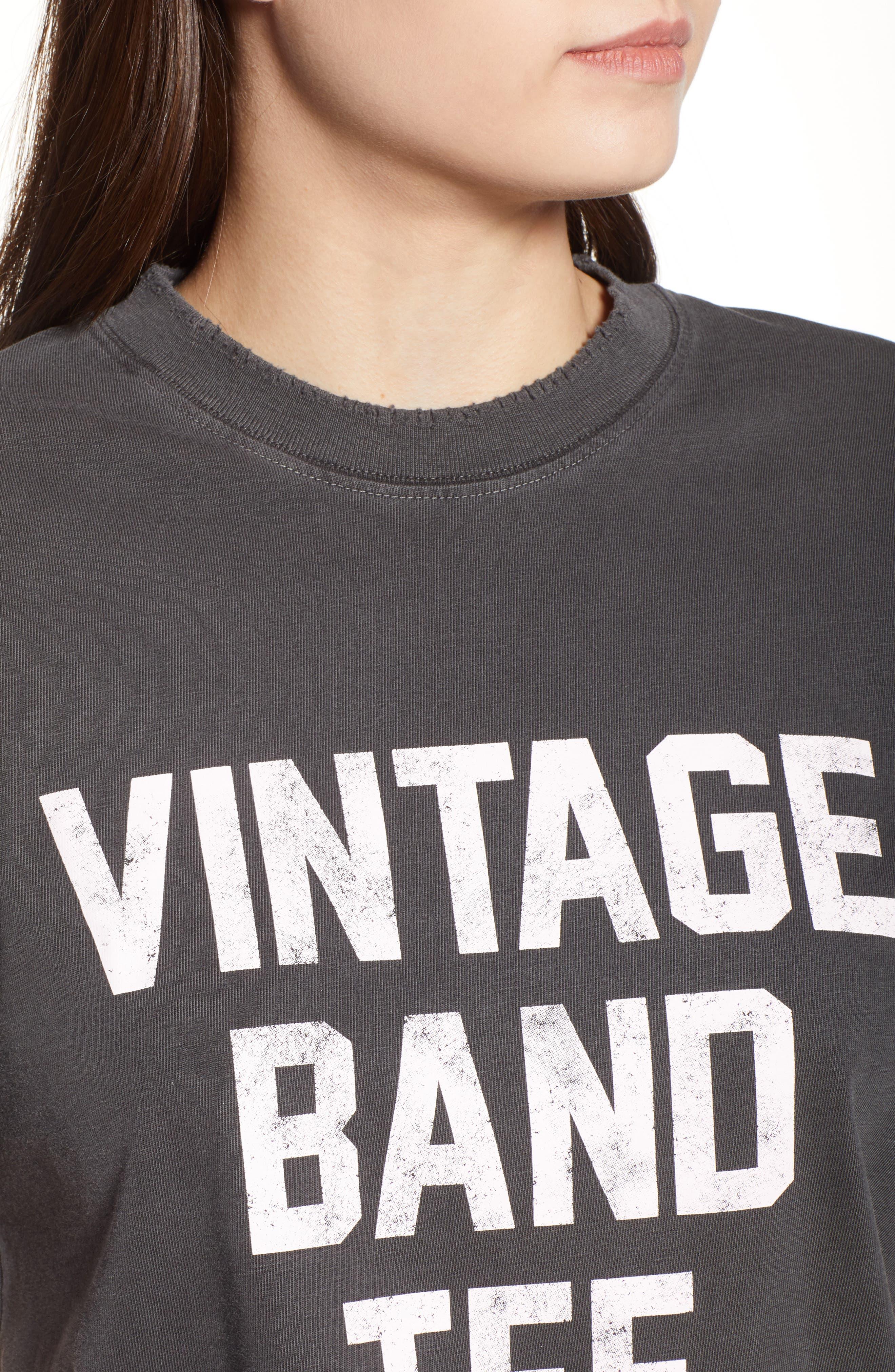 Vintage Band Tee,                             Alternate thumbnail 4, color,                             001