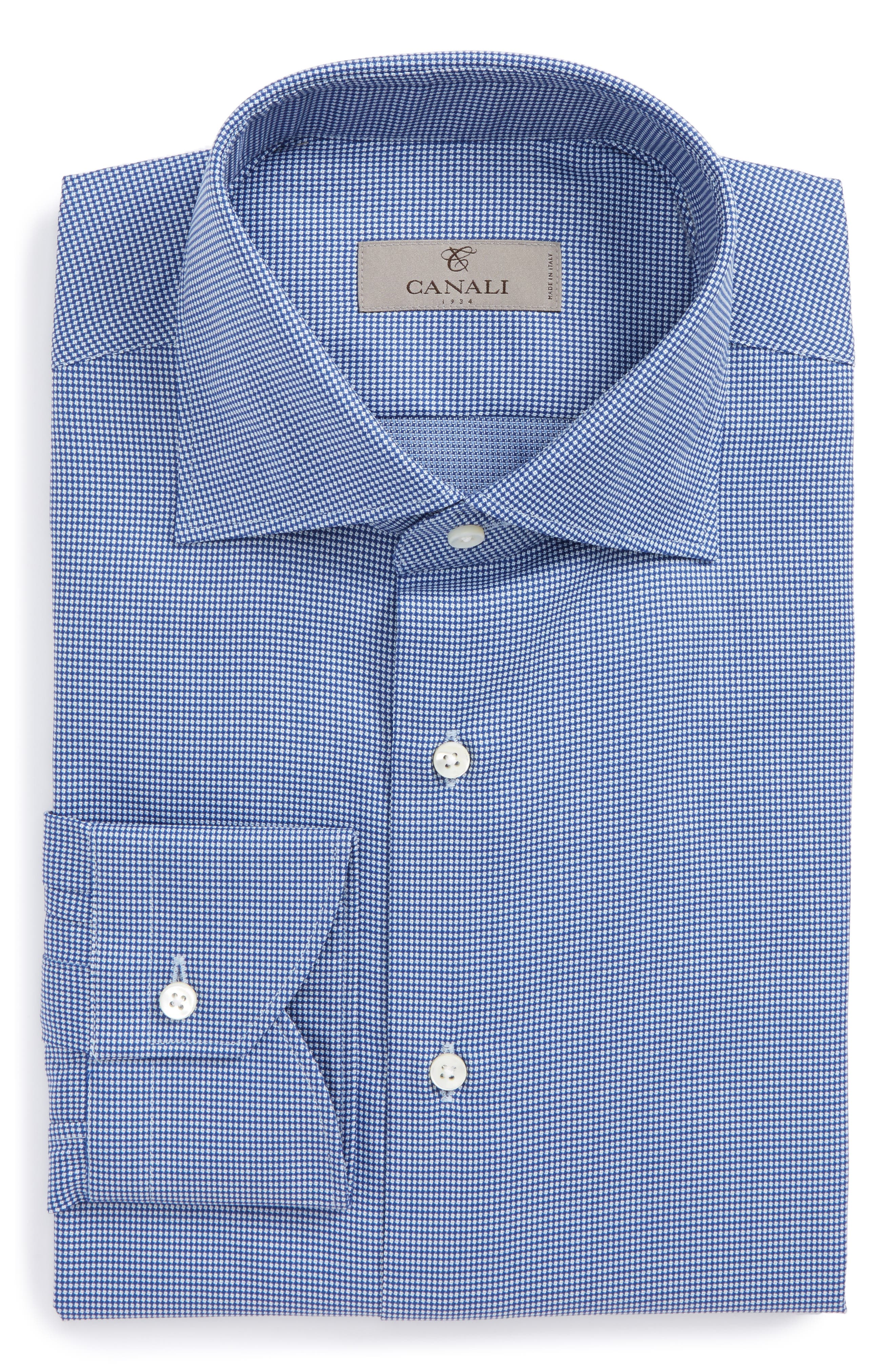 Regular Fit Solid Dress Shirt,                             Main thumbnail 1, color,                             401