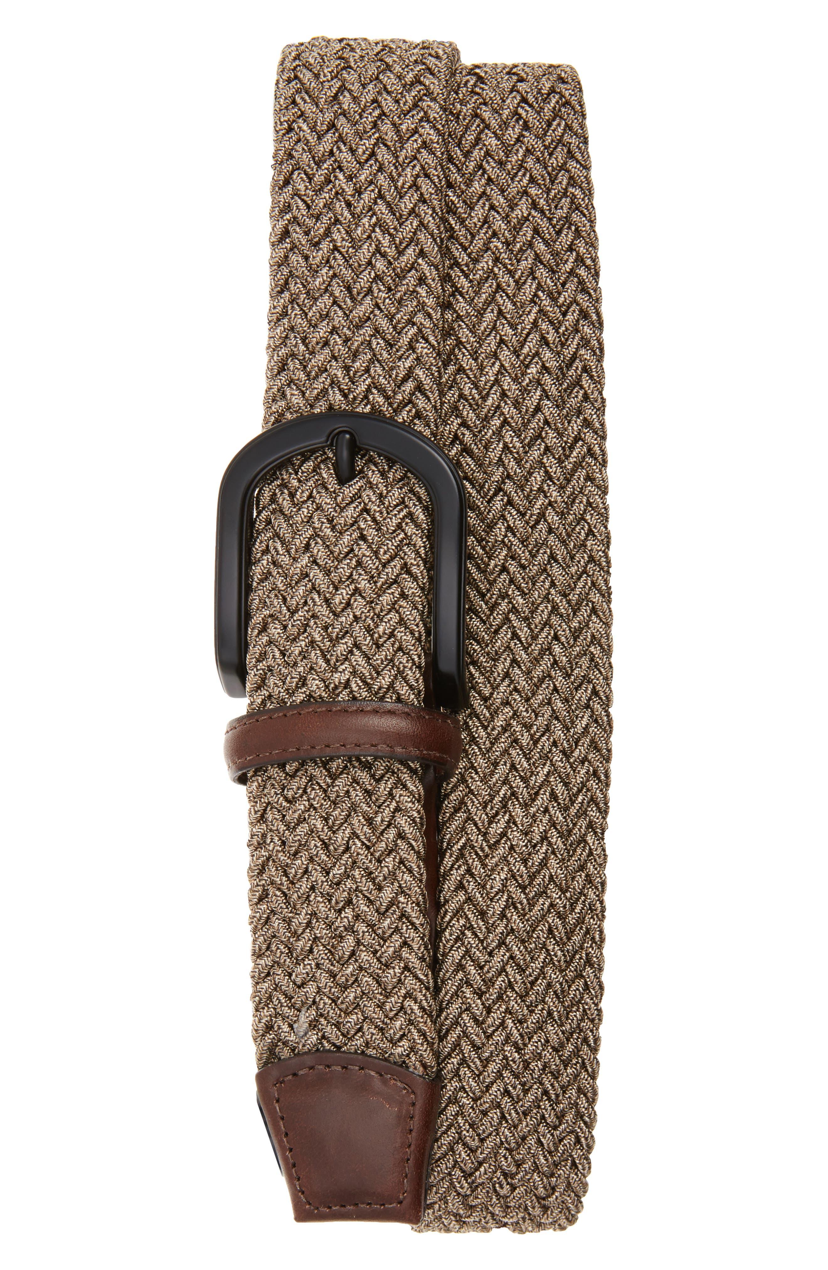 Torino Belts Braided Melange Belts, Khaki