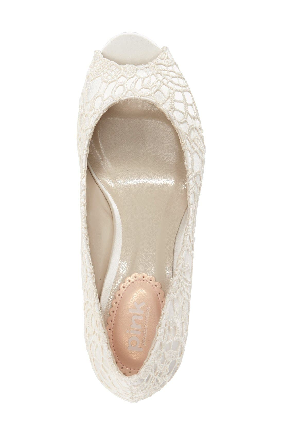 'Emotion' Peep Toe Pump,                             Alternate thumbnail 2, color,                             IVORY