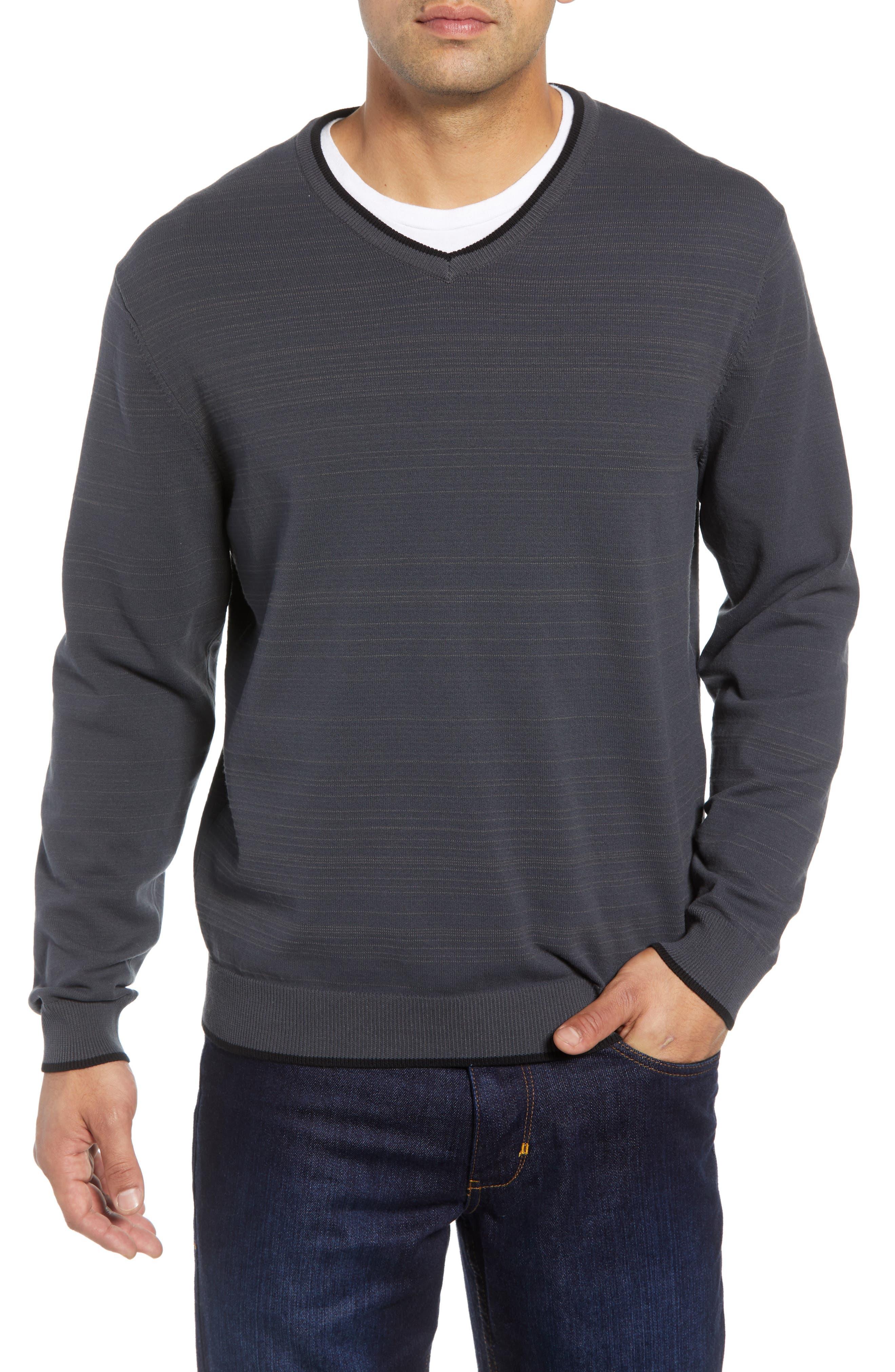 Impact V-Neck Sweater,                             Main thumbnail 1, color,                             CHARCOAL