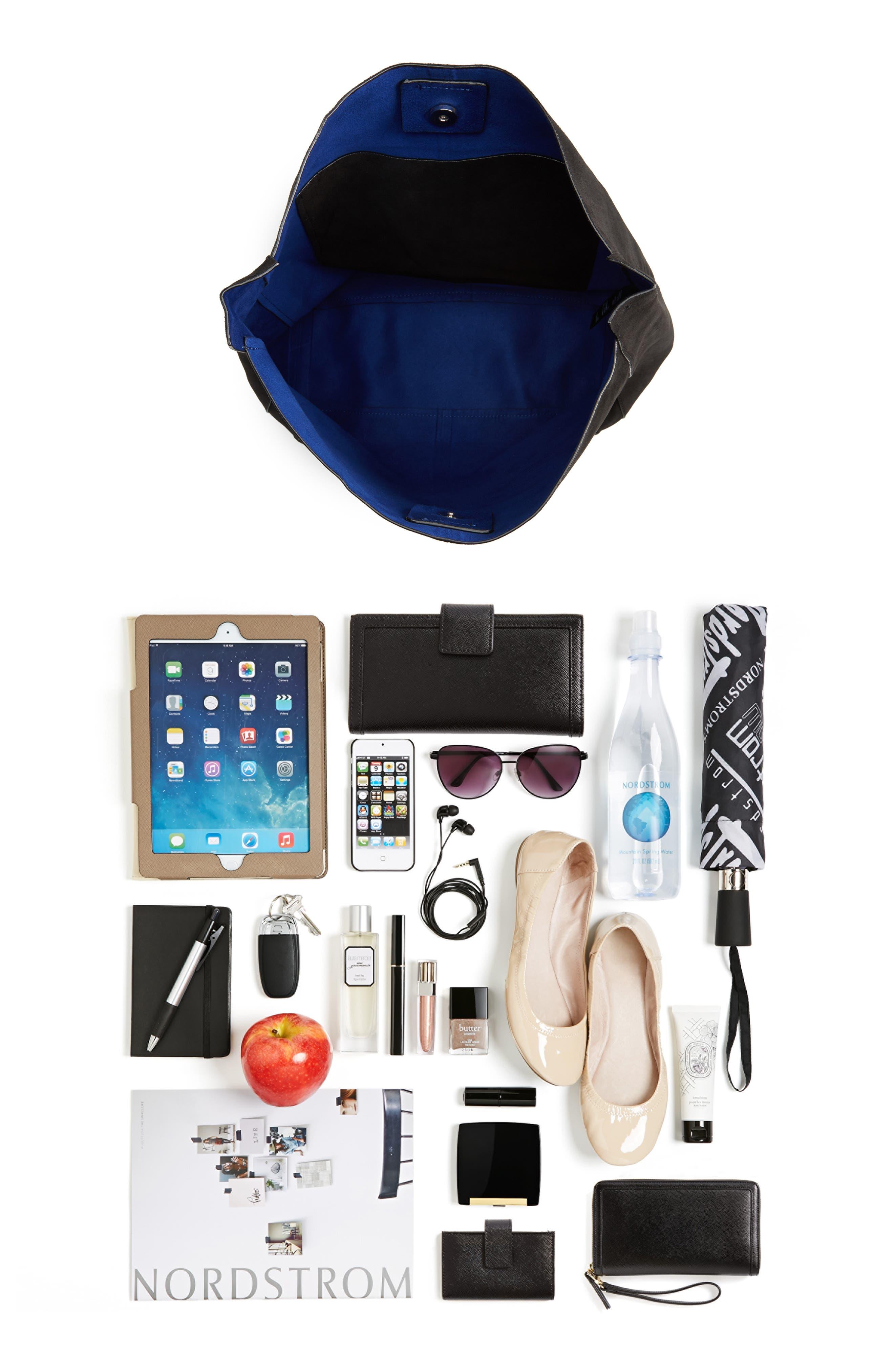 Asymmetric Suede Hobo Bag,                             Alternate thumbnail 13, color,