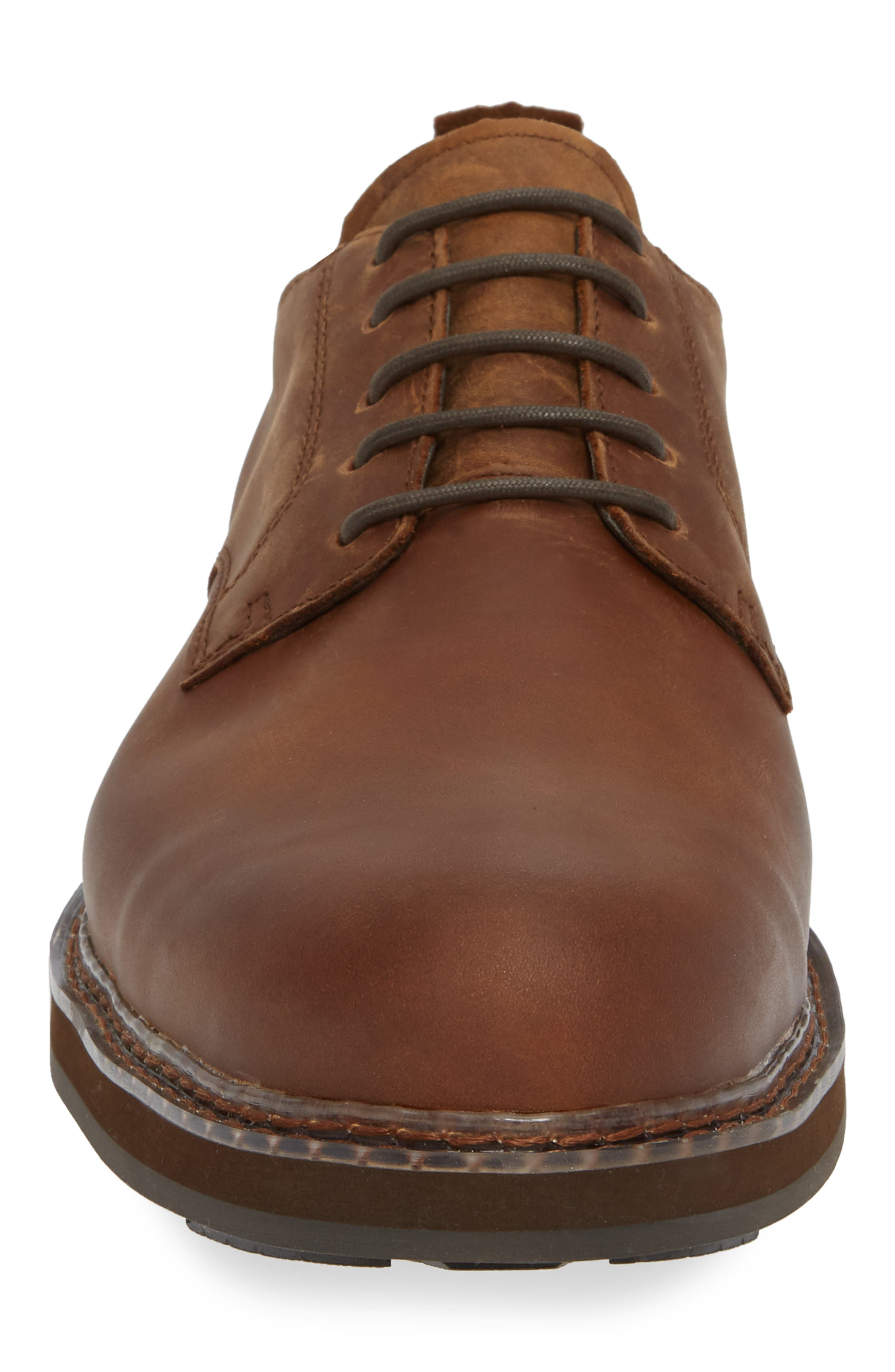 Squall Canyon Waterproof Plain Toe Derby,                             Alternate thumbnail 4, color,                             COPPER LEATHER