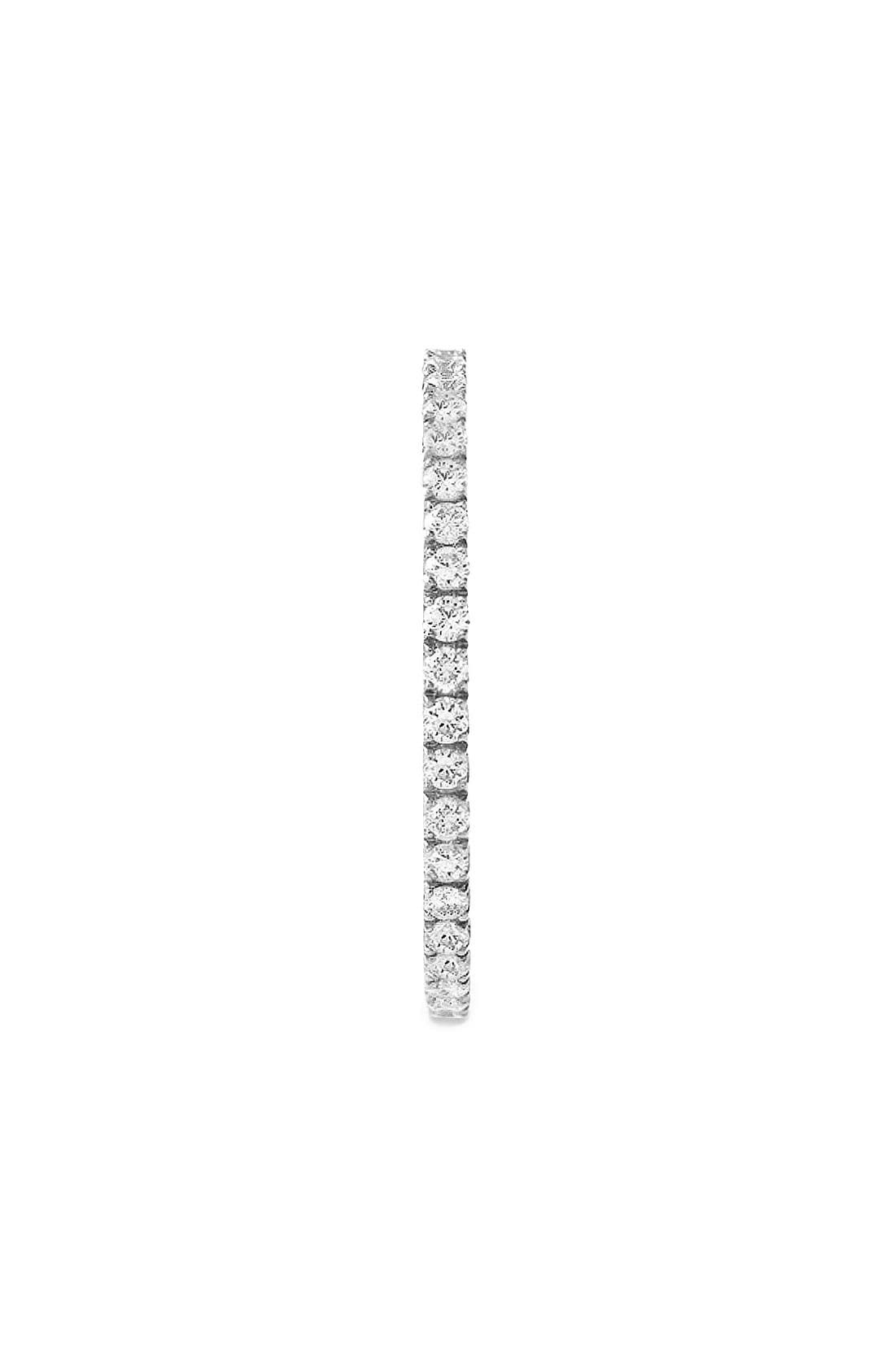 Diamond Stackable Ring,                             Alternate thumbnail 2, color,                             WHITE GOLD