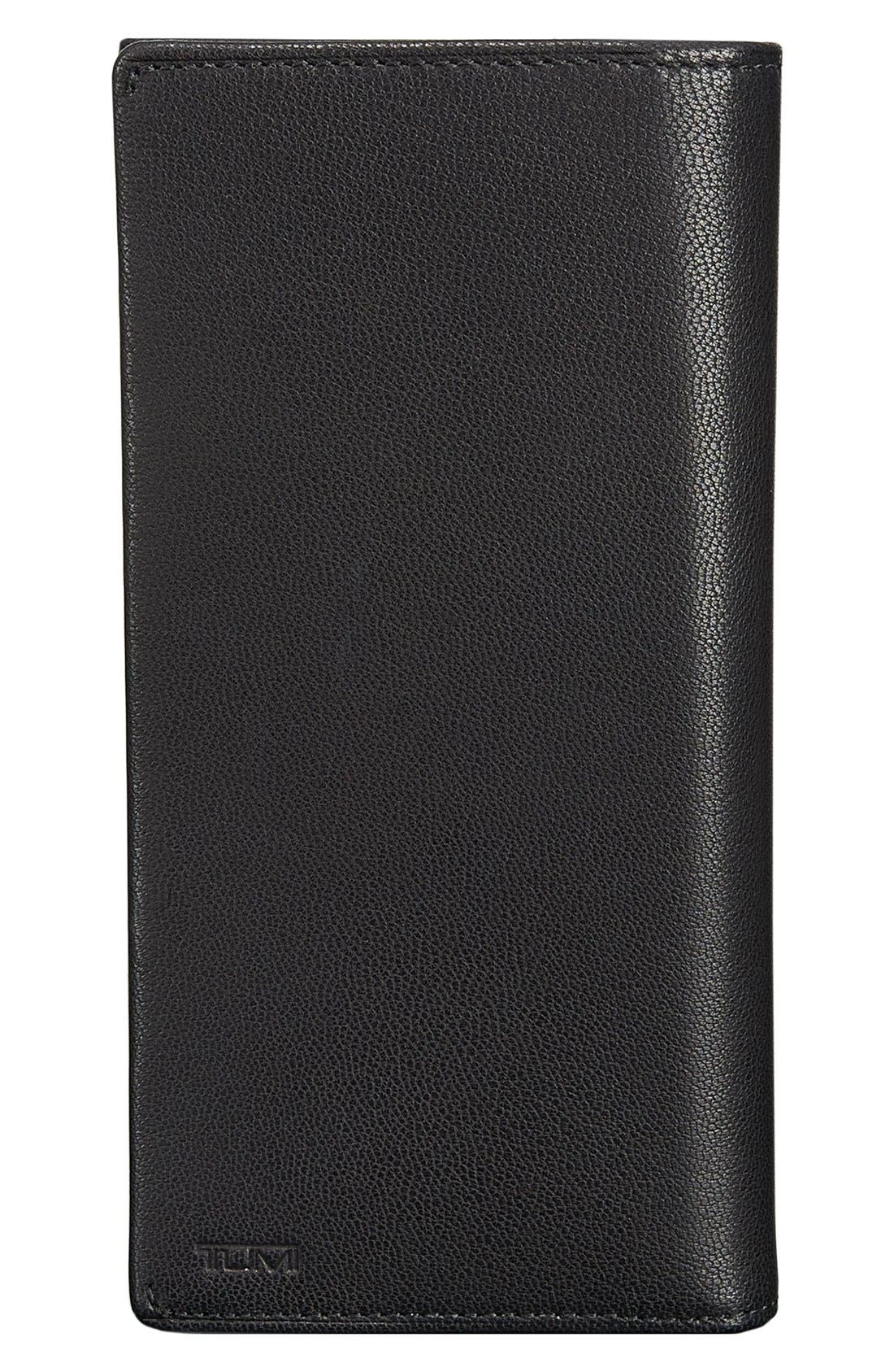 TUMI 'Chambers' Leather Breast Pocket Wallet, Main, color, 001
