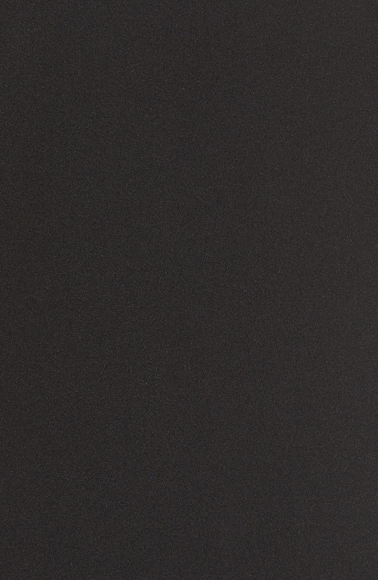 Ruffle Cold Shoulder Shift Dress,                             Alternate thumbnail 5, color,                             001