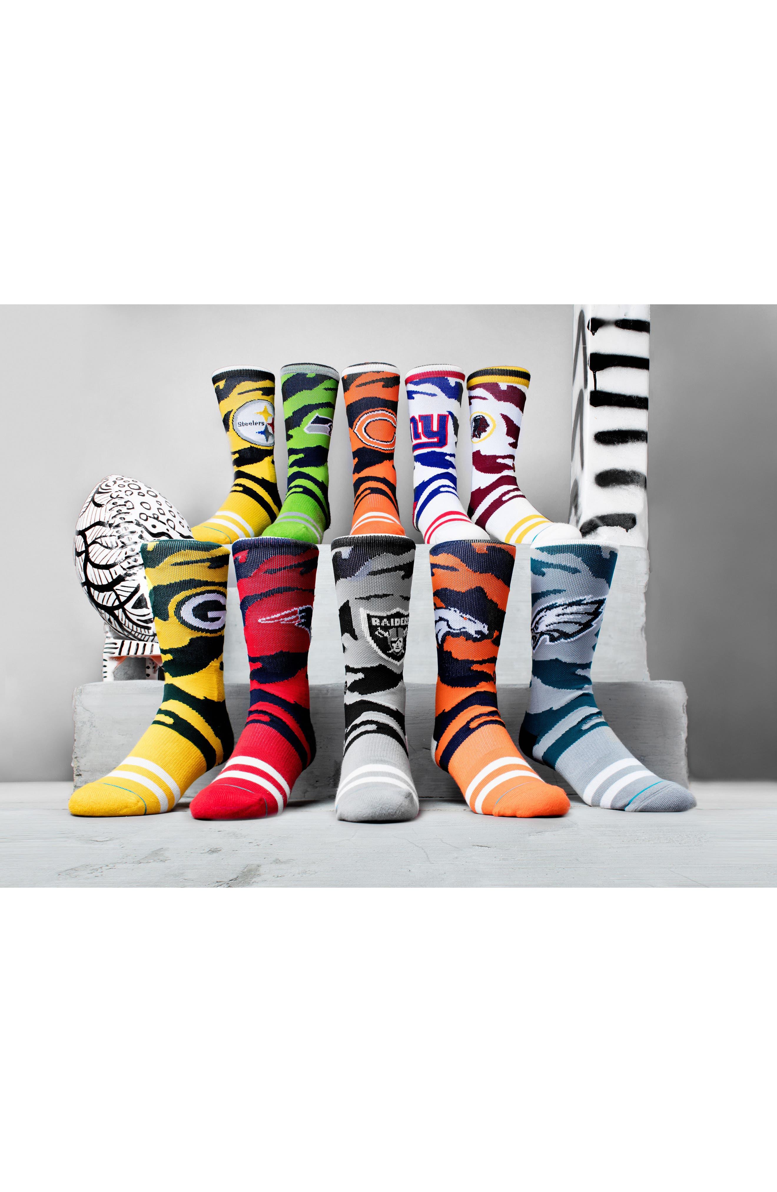 Chicago Bears - Tiger Stripe Socks,                             Alternate thumbnail 5, color,                             800