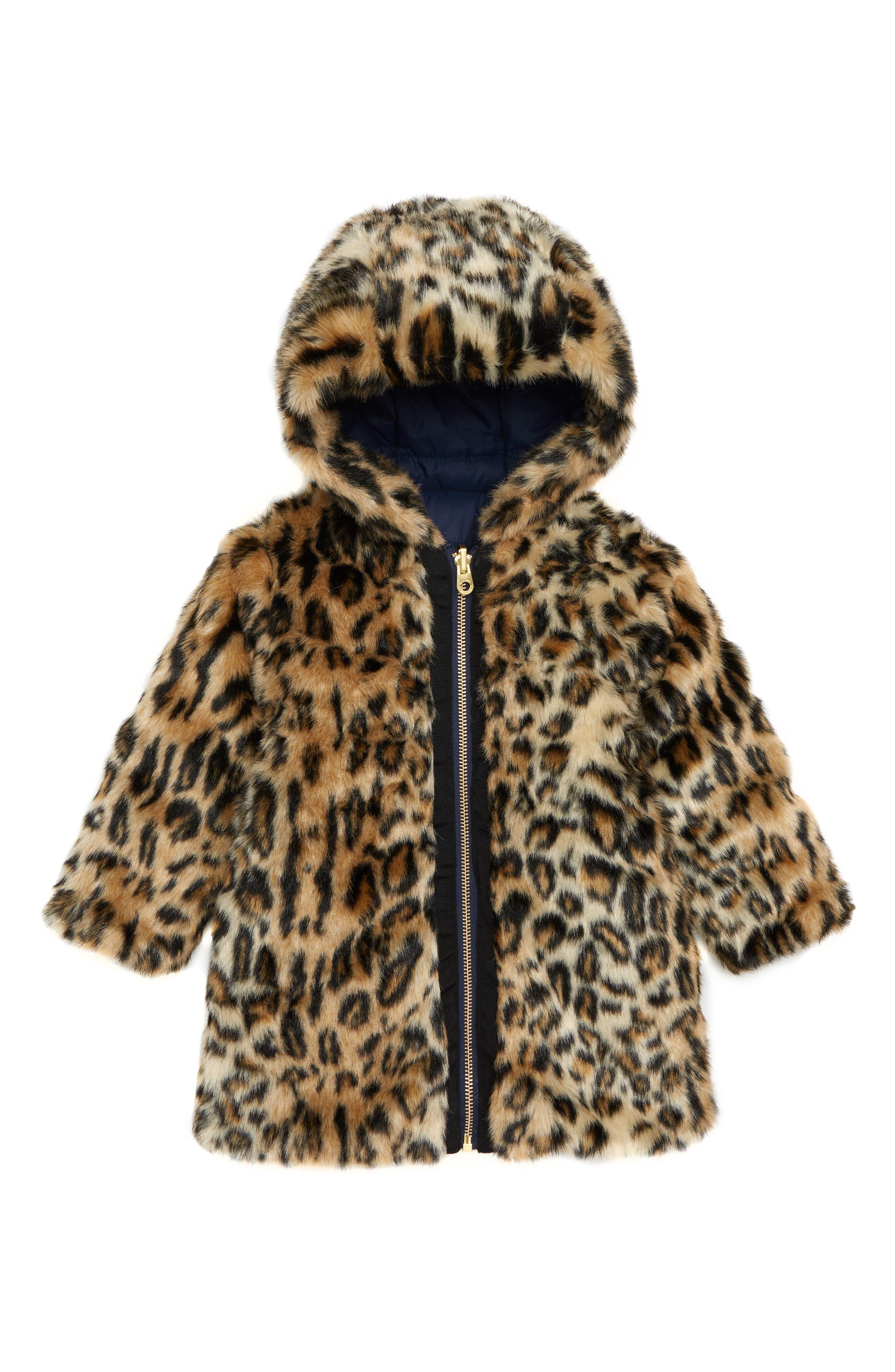 LITTLE MARC JACOBS,                             Reversible Faux Fur Puffer Jacket,                             Alternate thumbnail 2, color,                             400