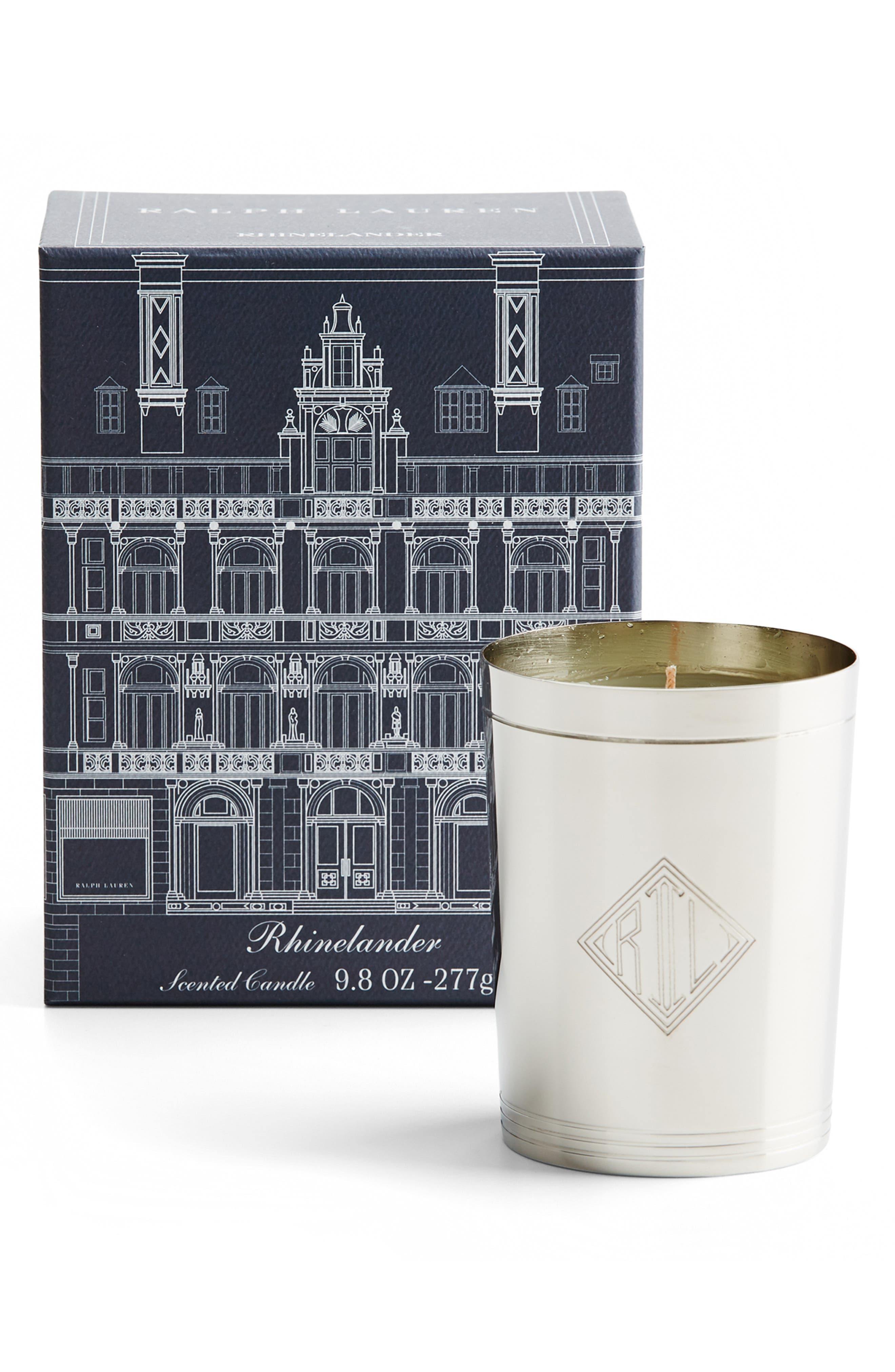 Rhinelander Flagship Single Wick Candle, Main, color, SILVER