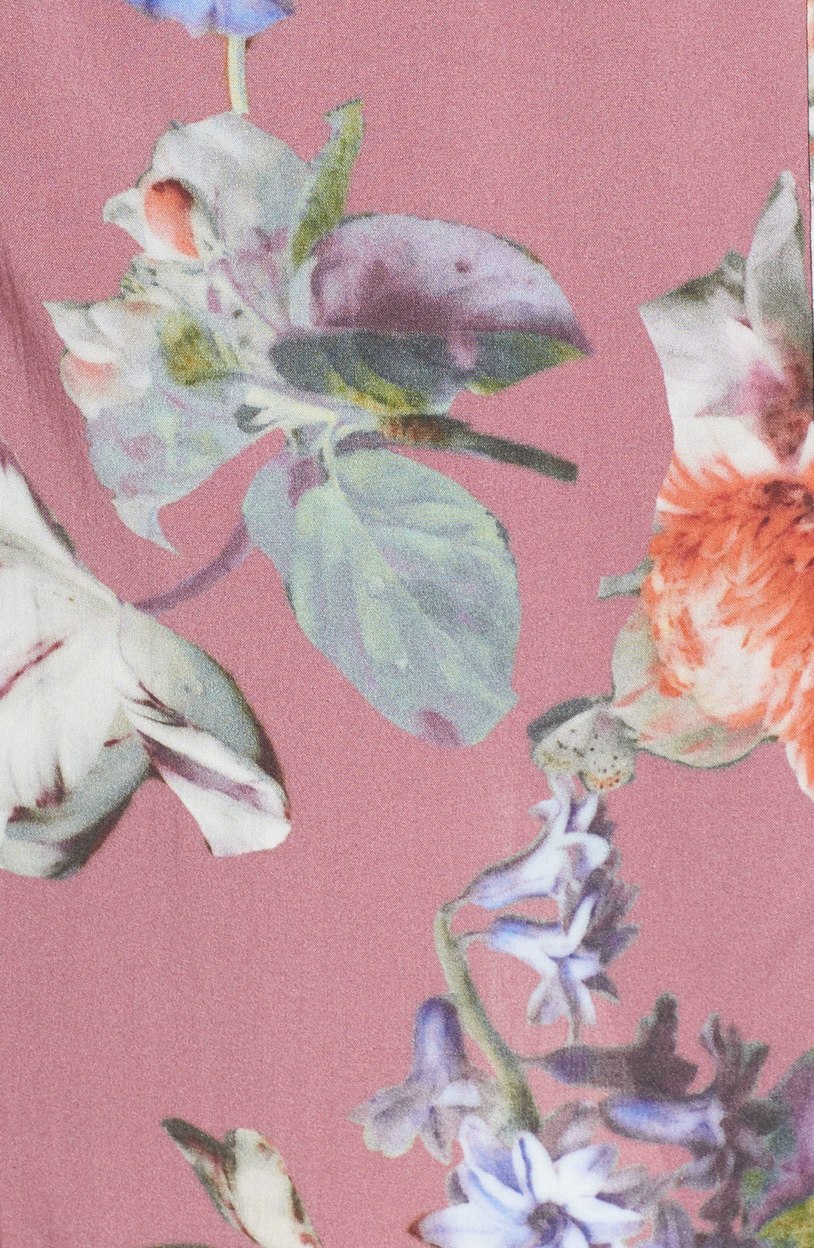 Pretty Plum Sugar Knee-Length Robe,                             Alternate thumbnail 9, color,