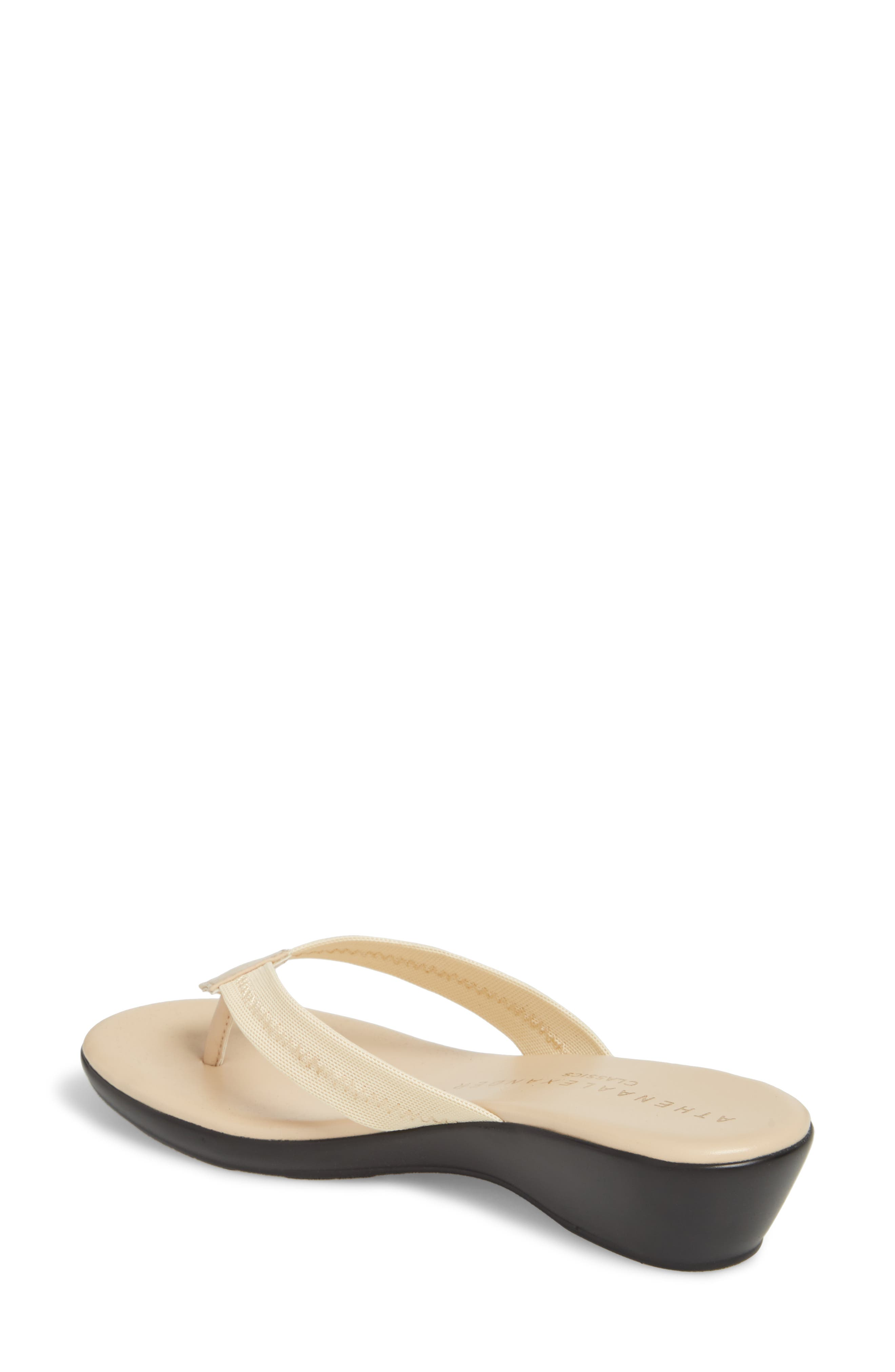 Ying Flip Flop,                             Alternate thumbnail 2, color,                             BEIGE STRETCH FABRIC