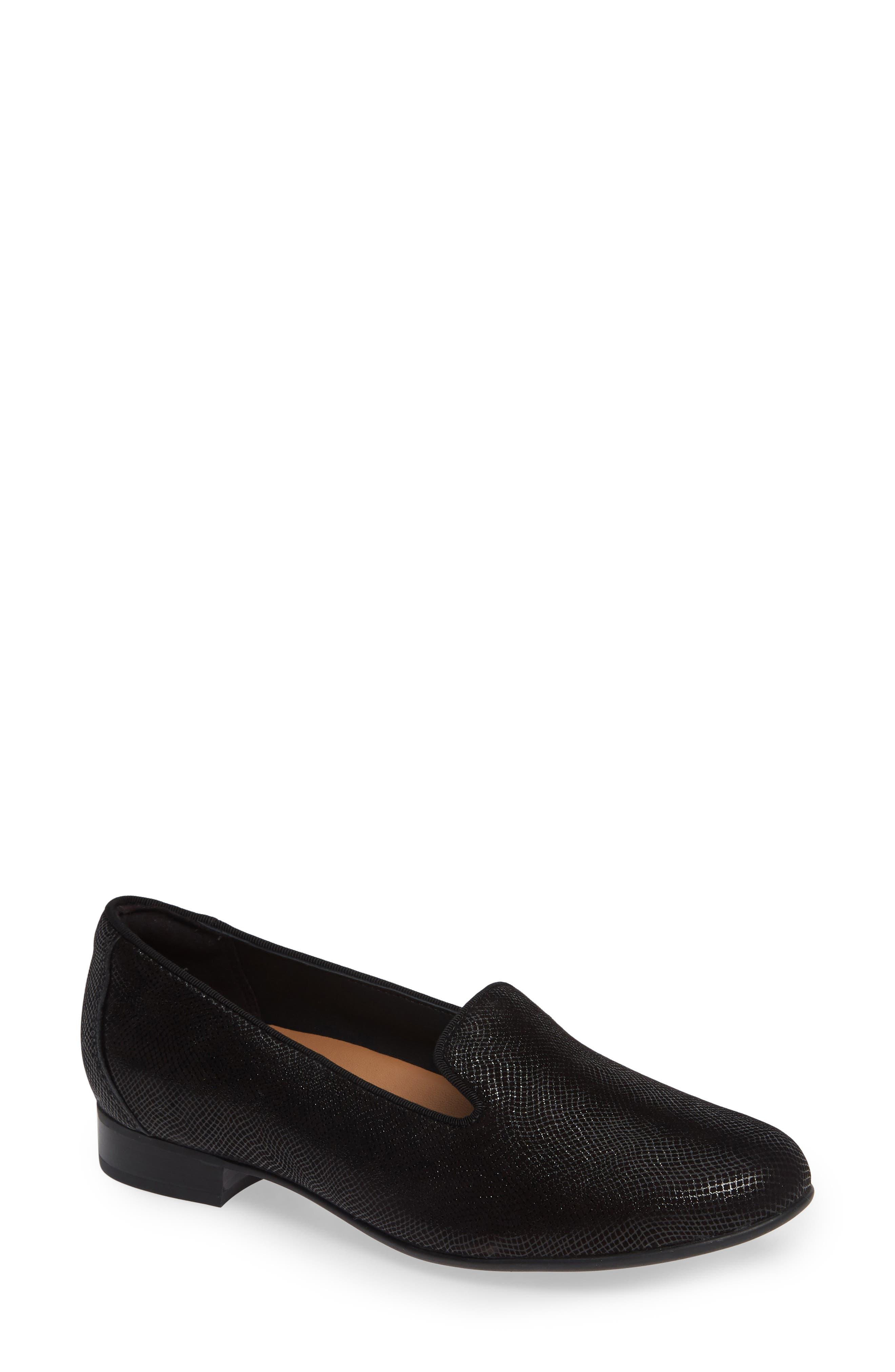 Un Blush Step Loafer,                             Main thumbnail 1, color,                             BLACK NUBUCK