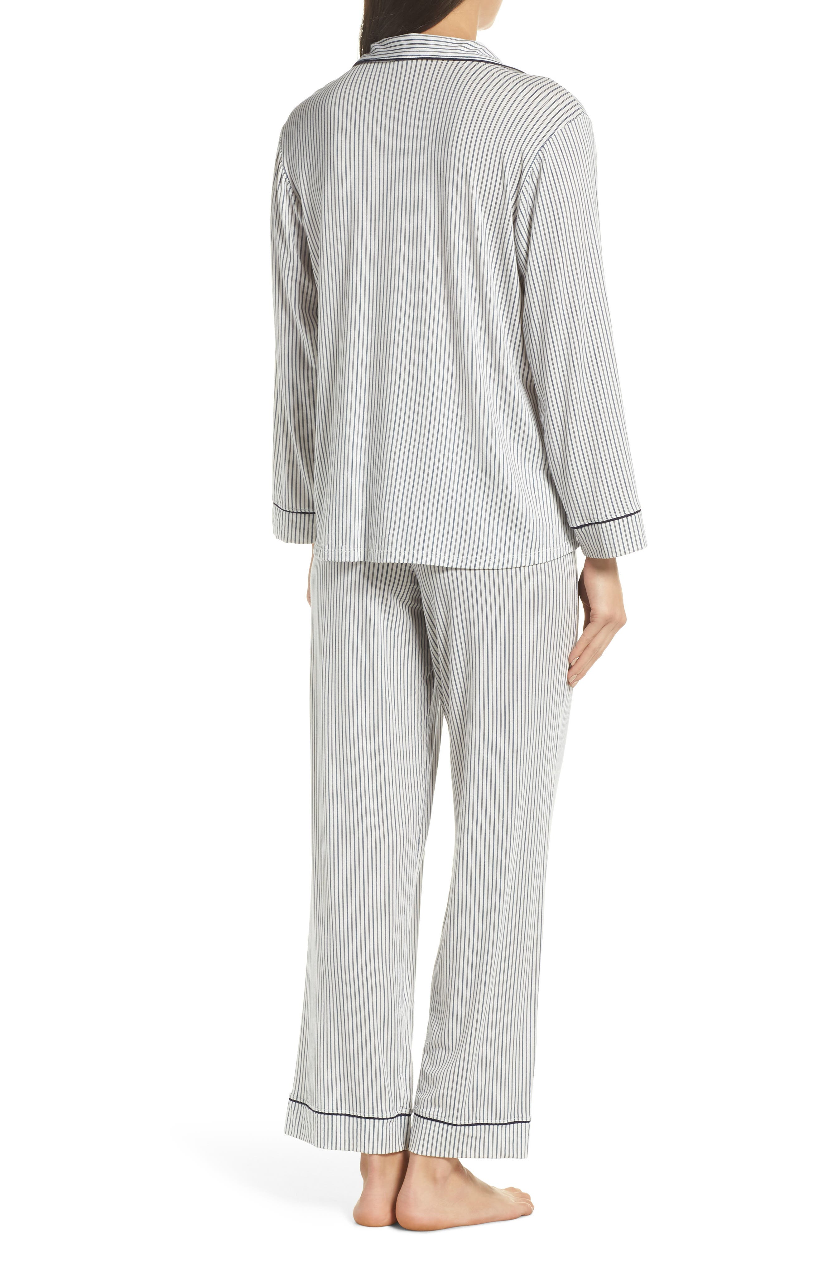 EBERJEY,                             Sleep Chic Pajamas,                             Alternate thumbnail 2, color,                             NORDIC STRPS/ NORTHERN LIGHTS