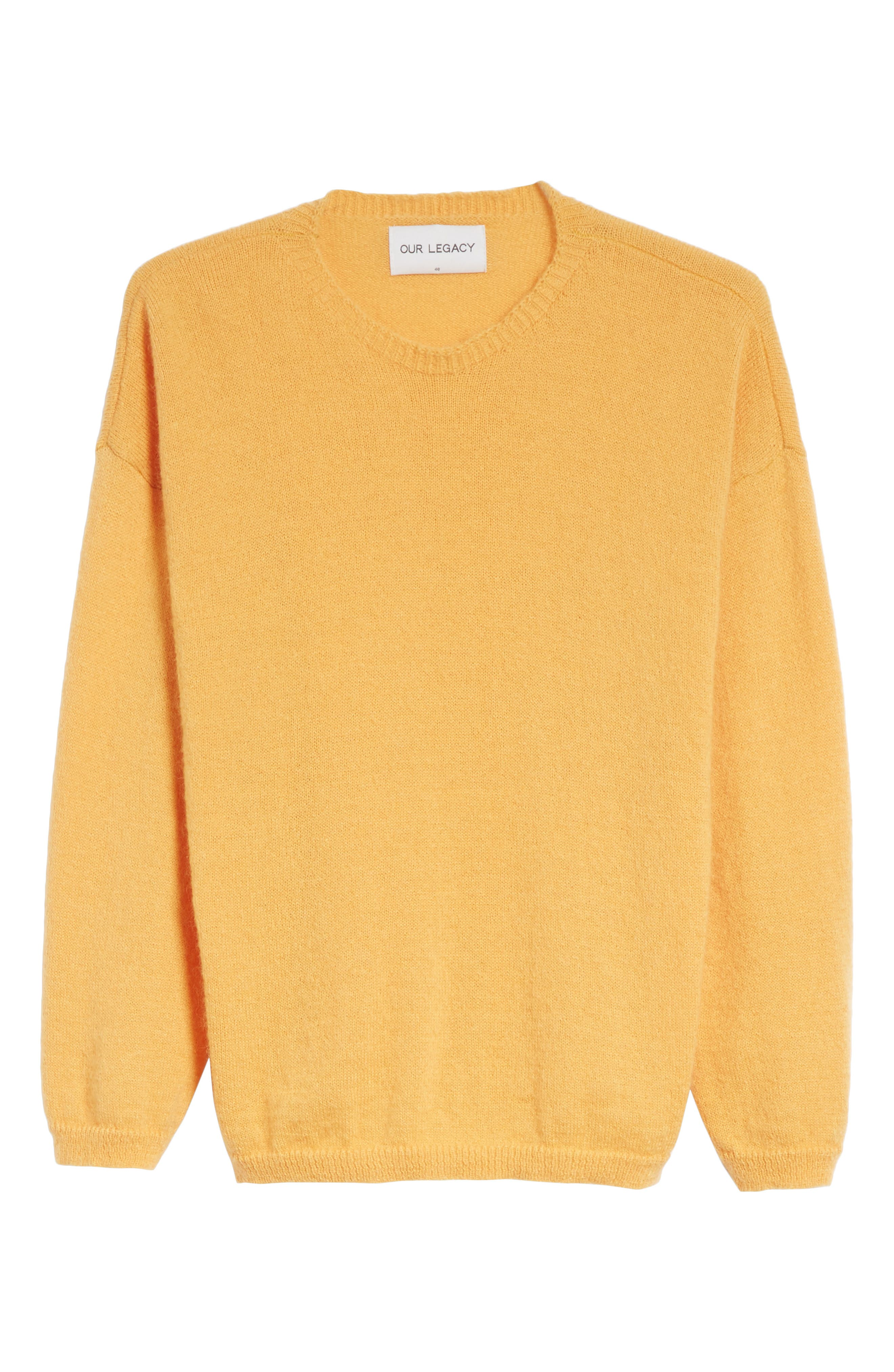 Mohair Blend Crewneck Sweater,                             Alternate thumbnail 6, color,