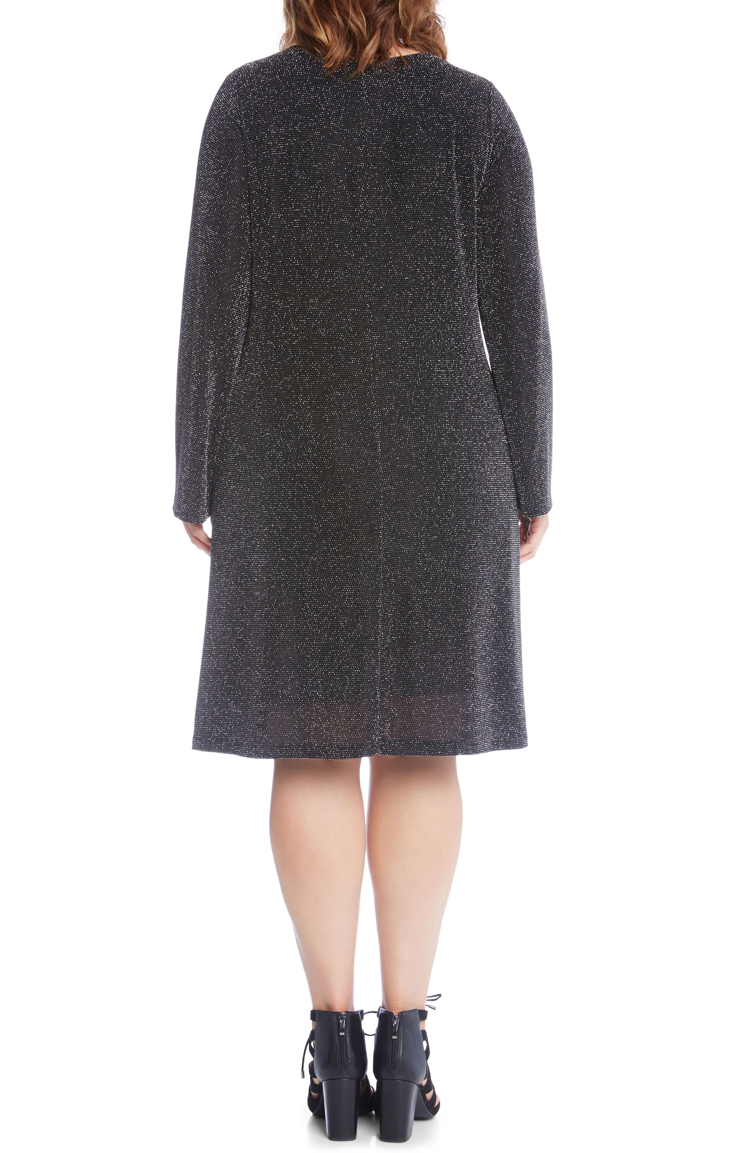 Taylor Sparkle Knit Dress,                             Alternate thumbnail 2, color,                             044
