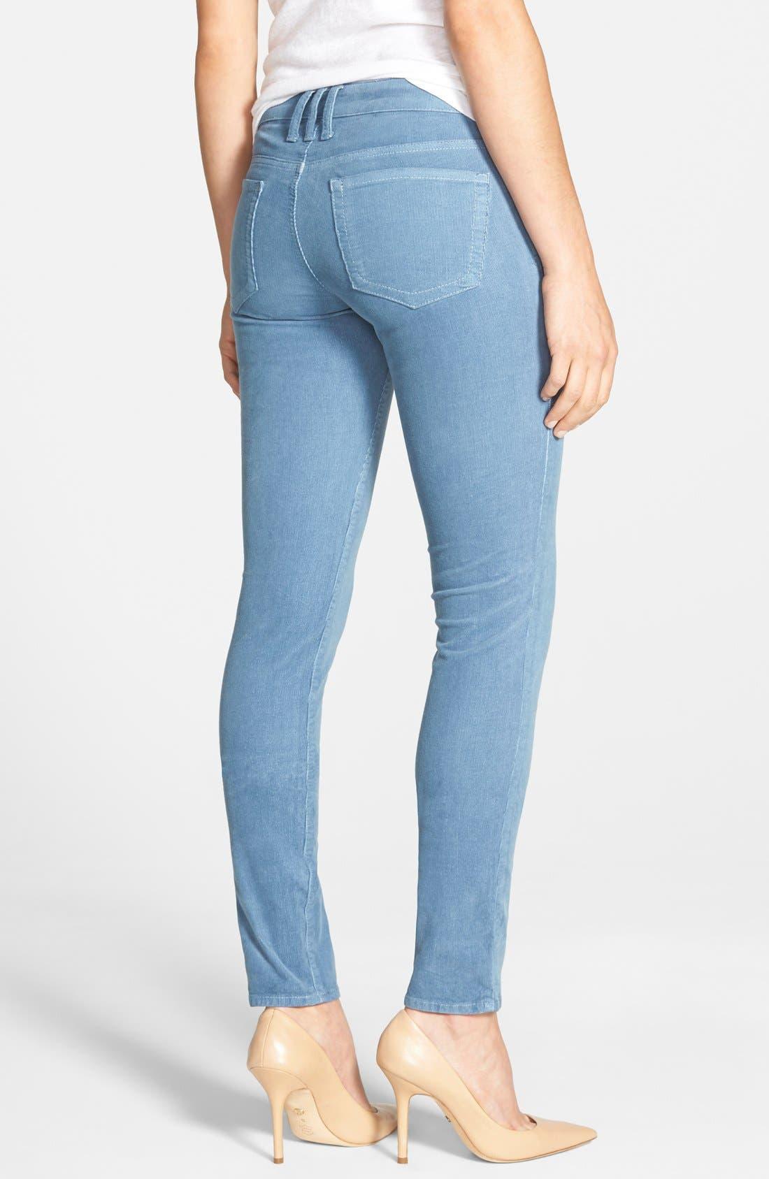 'Diana' Stretch Corduroy Skinny Pants,                             Alternate thumbnail 86, color,