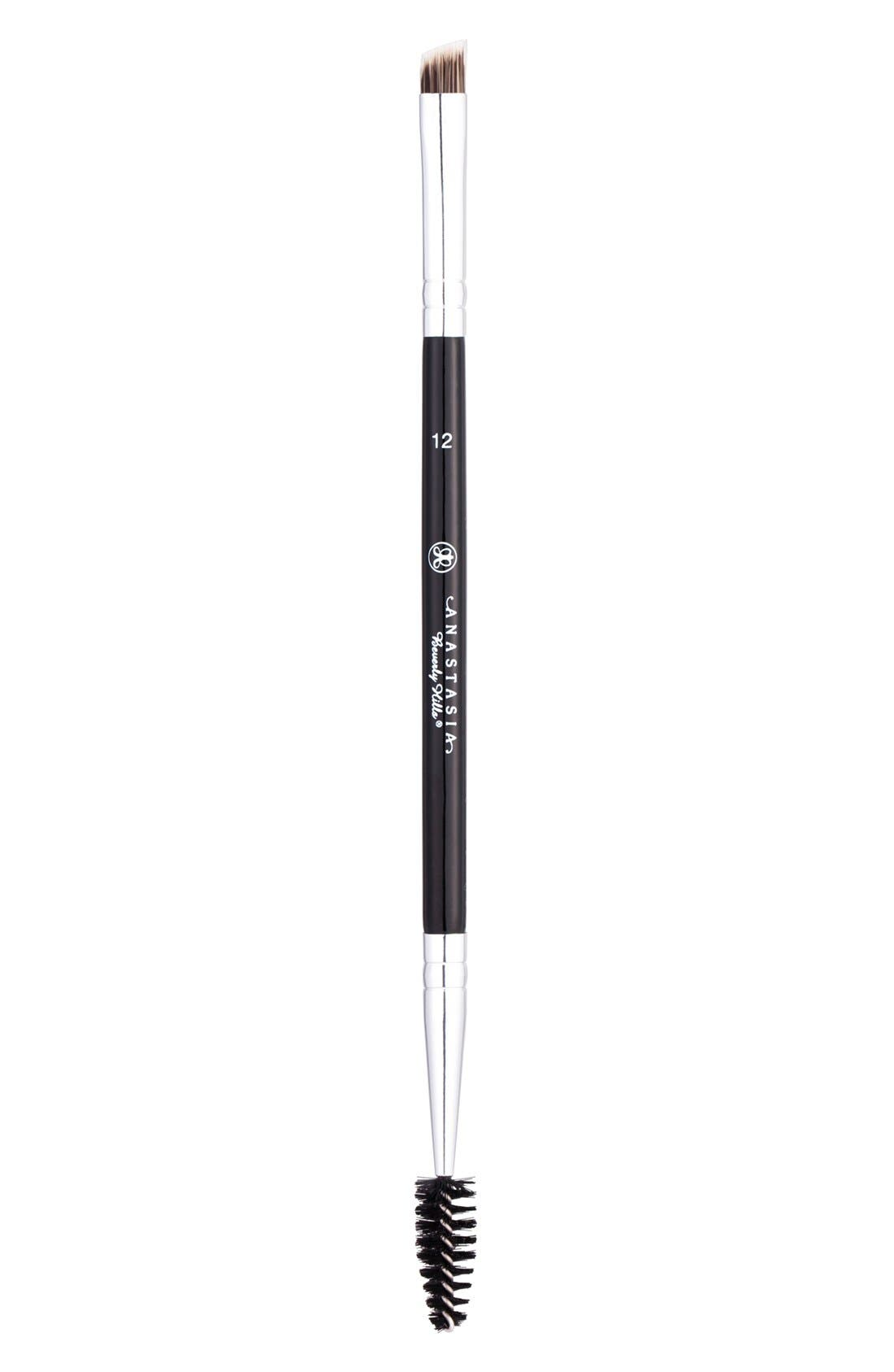 #12 Large Synthetic Duo Brow Brush,                         Main,                         color, NO COLOR