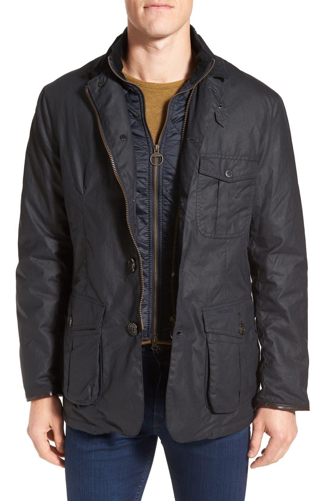 Torridon Wax Jacket with Bib,                             Main thumbnail 1, color,                             410