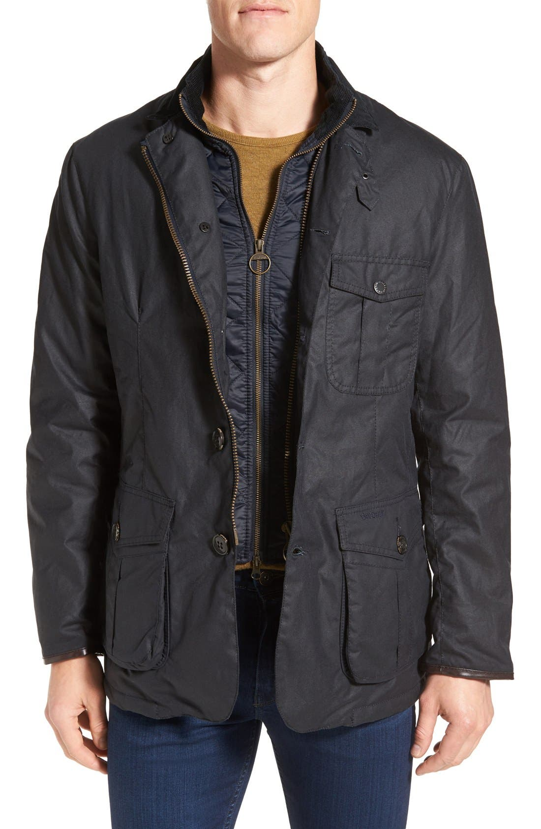 Torridon Wax Jacket with Bib, Main, color, 410