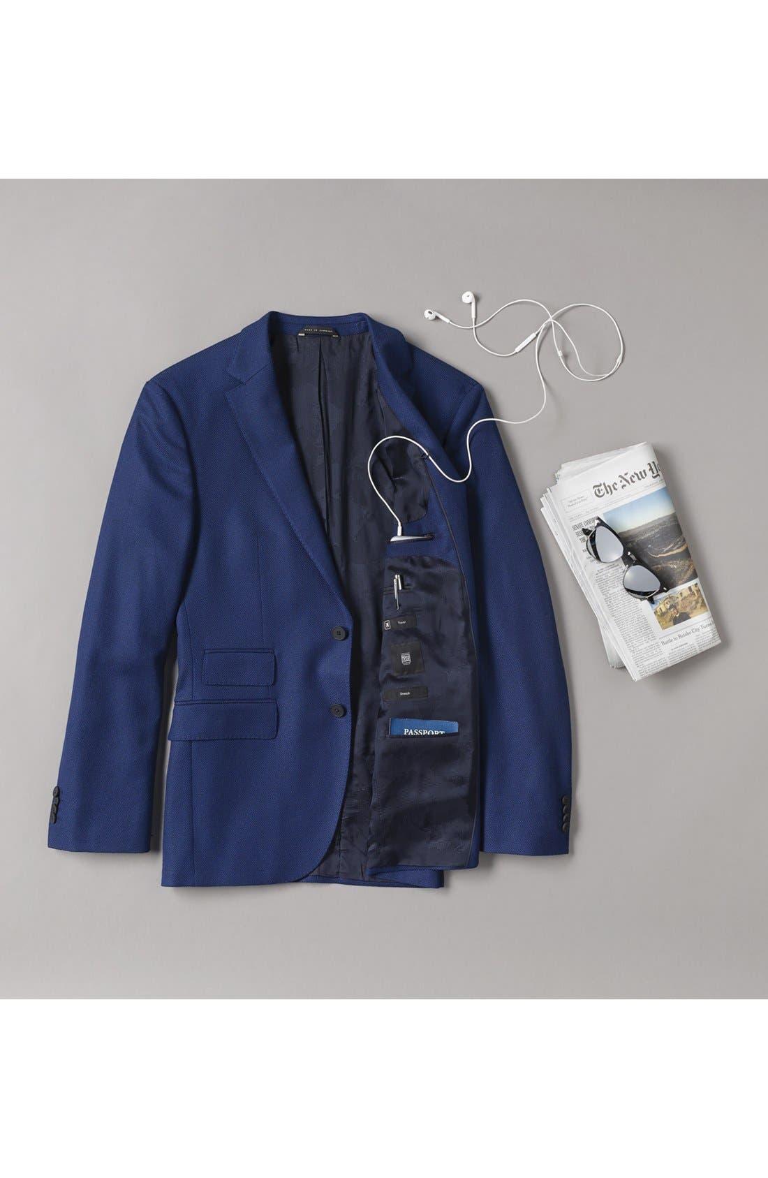 ZZDNUHUGO BOSS,                             BOSS Jet Trim Fit Stretch Wool Travel Blazer,                             Alternate thumbnail 6, color,                             420