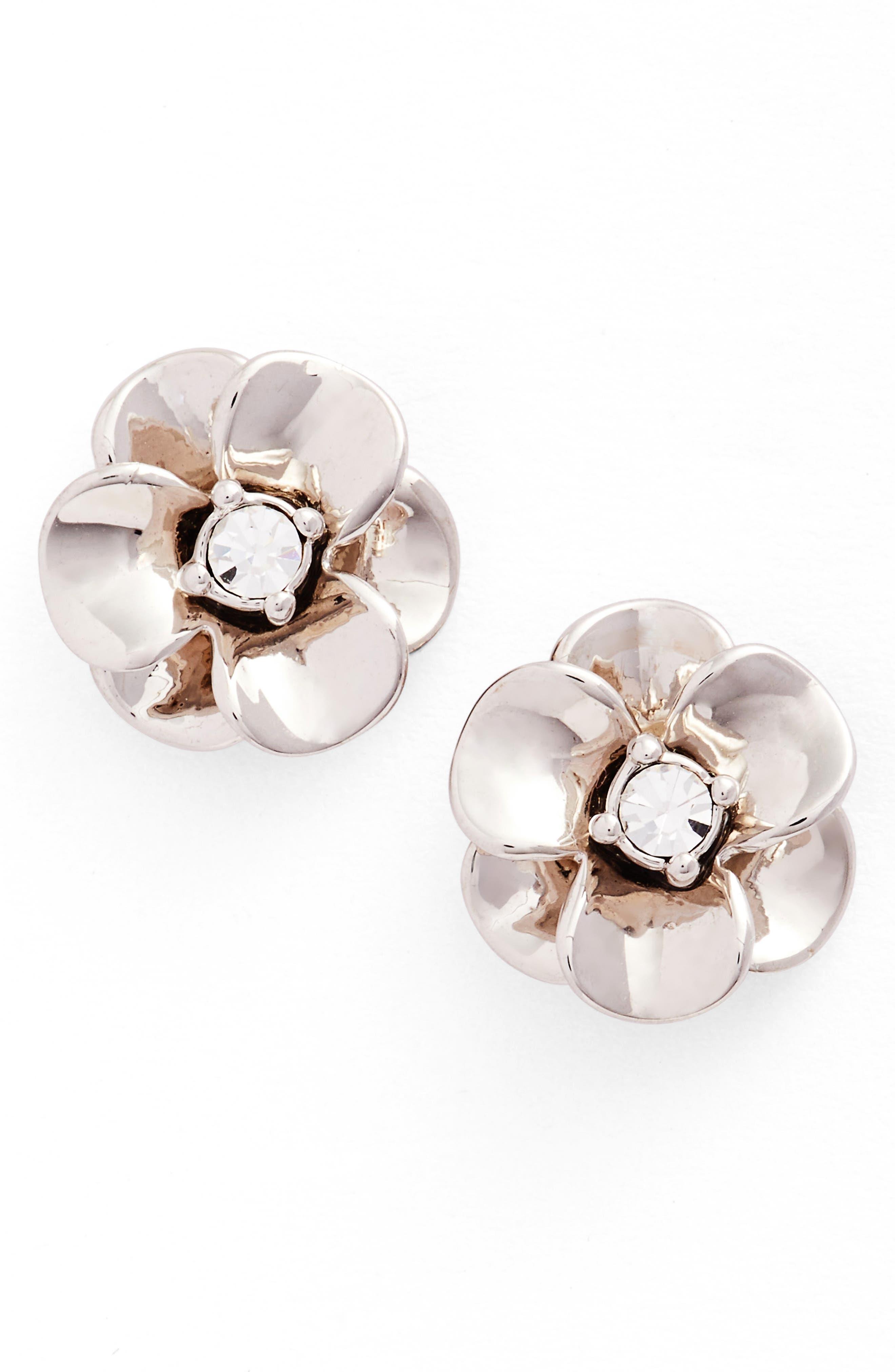 shine on flower stud earrings,                             Main thumbnail 1, color,                             049