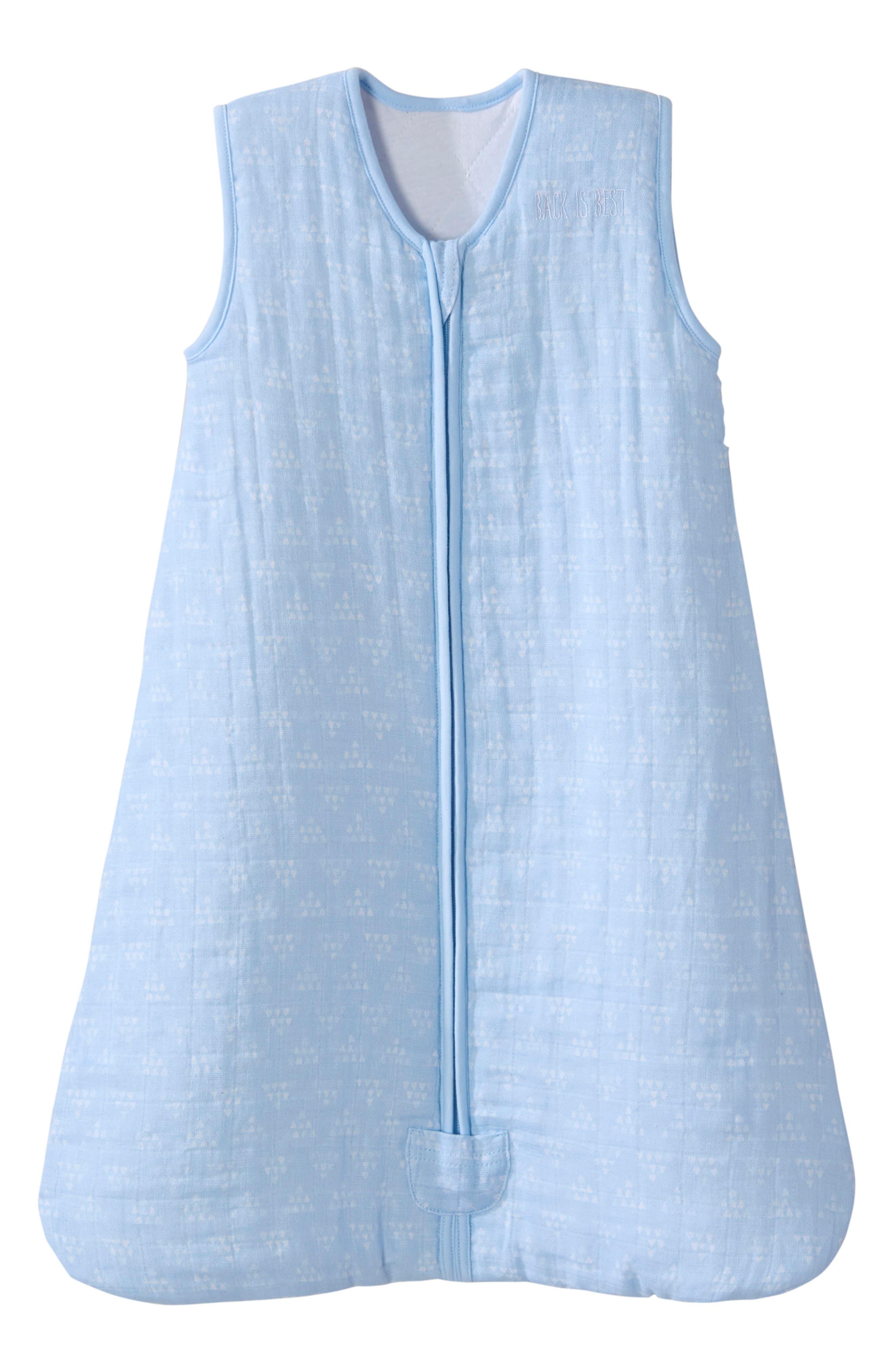 Halo Platinum Series Sleepsack(TM) Quilted Muslin Wearable Blanket Size 612M  Blue