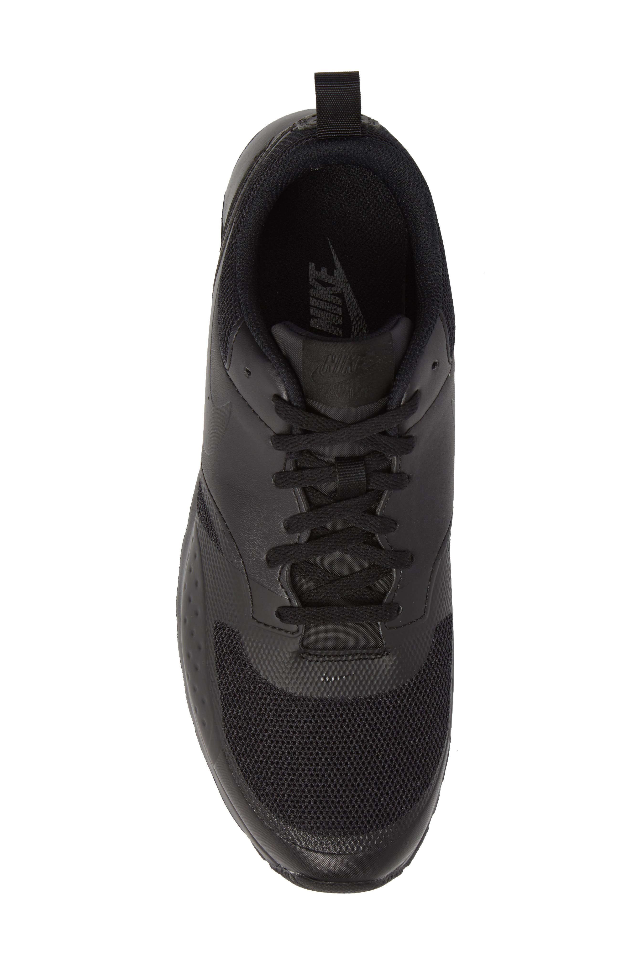 Air Max Vision Sneaker,                             Alternate thumbnail 5, color,                             BLACK/ BLACK