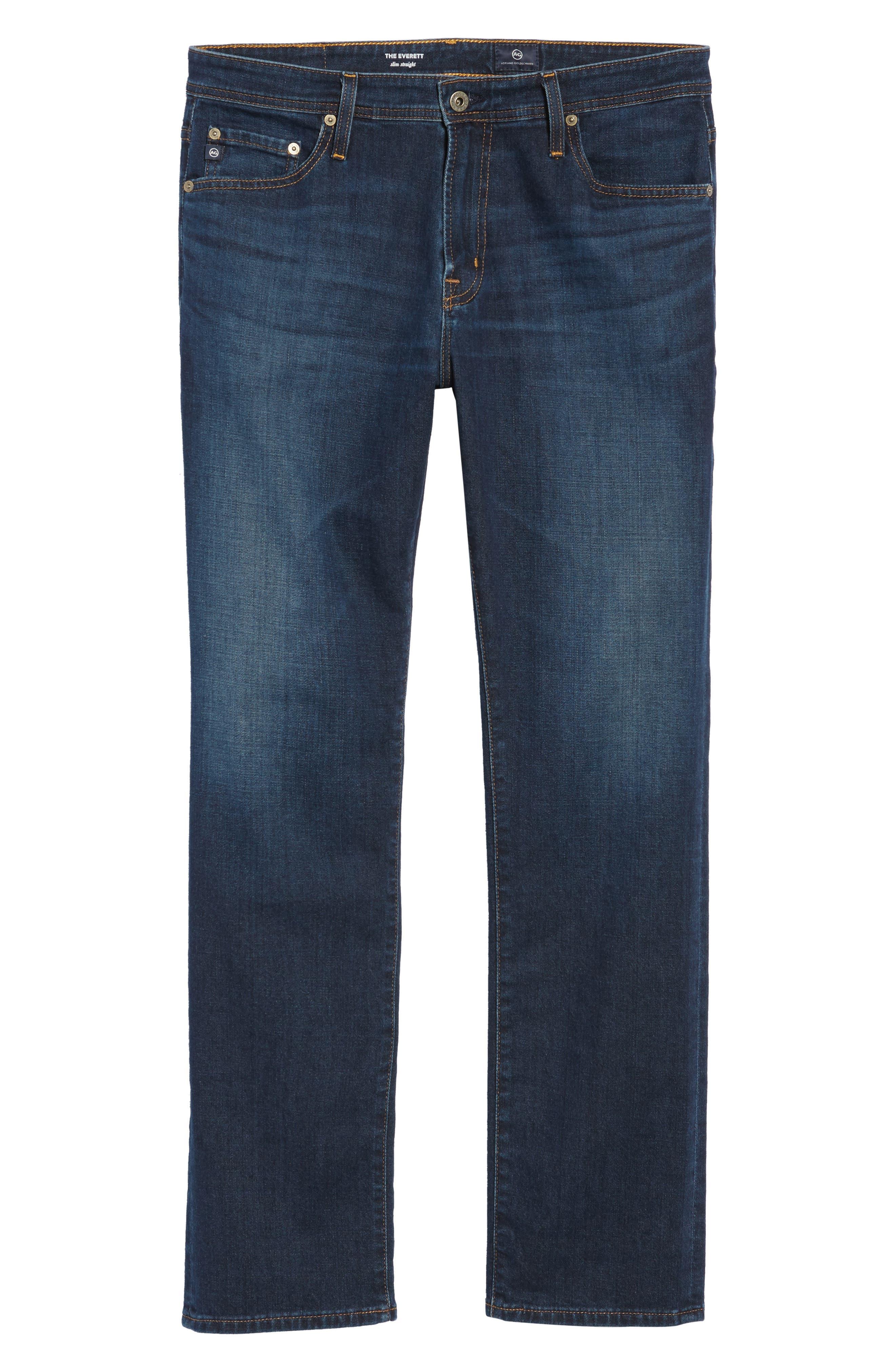 Everett Slim Straight Fit Jeans,                             Alternate thumbnail 6, color,                             WITNESS