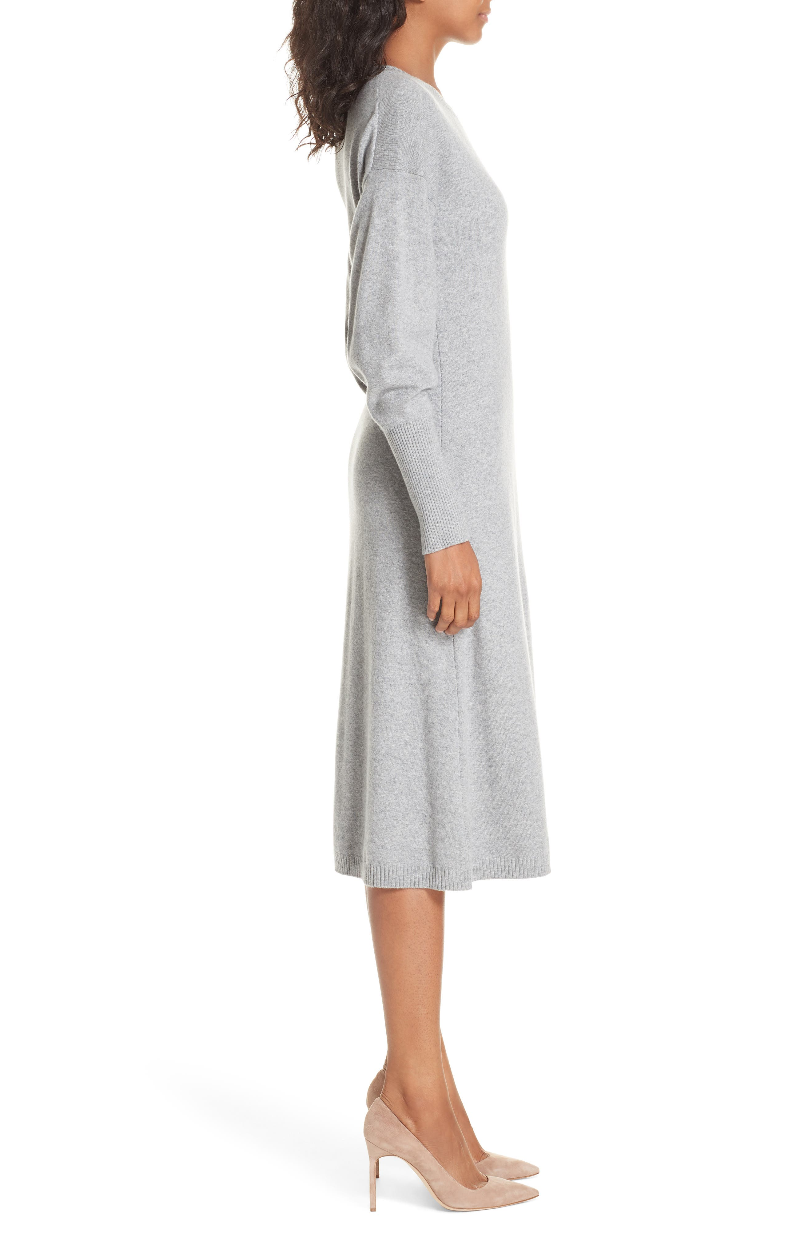 Cashmere Blend Sweater Dress,                             Alternate thumbnail 3, color,                             030