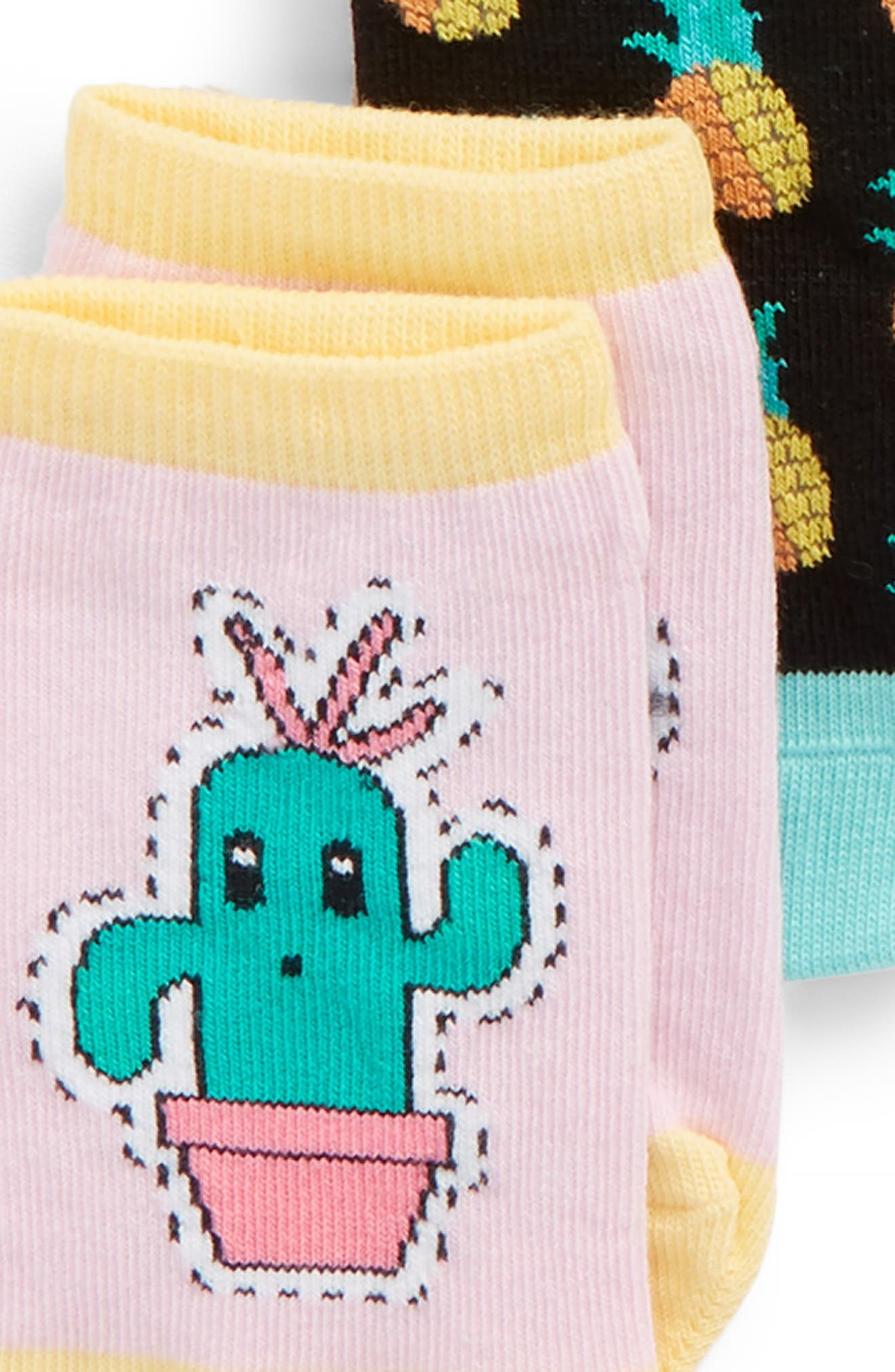 6-Pack Flamingo Low Cut Socks,                             Alternate thumbnail 2, color,                             651