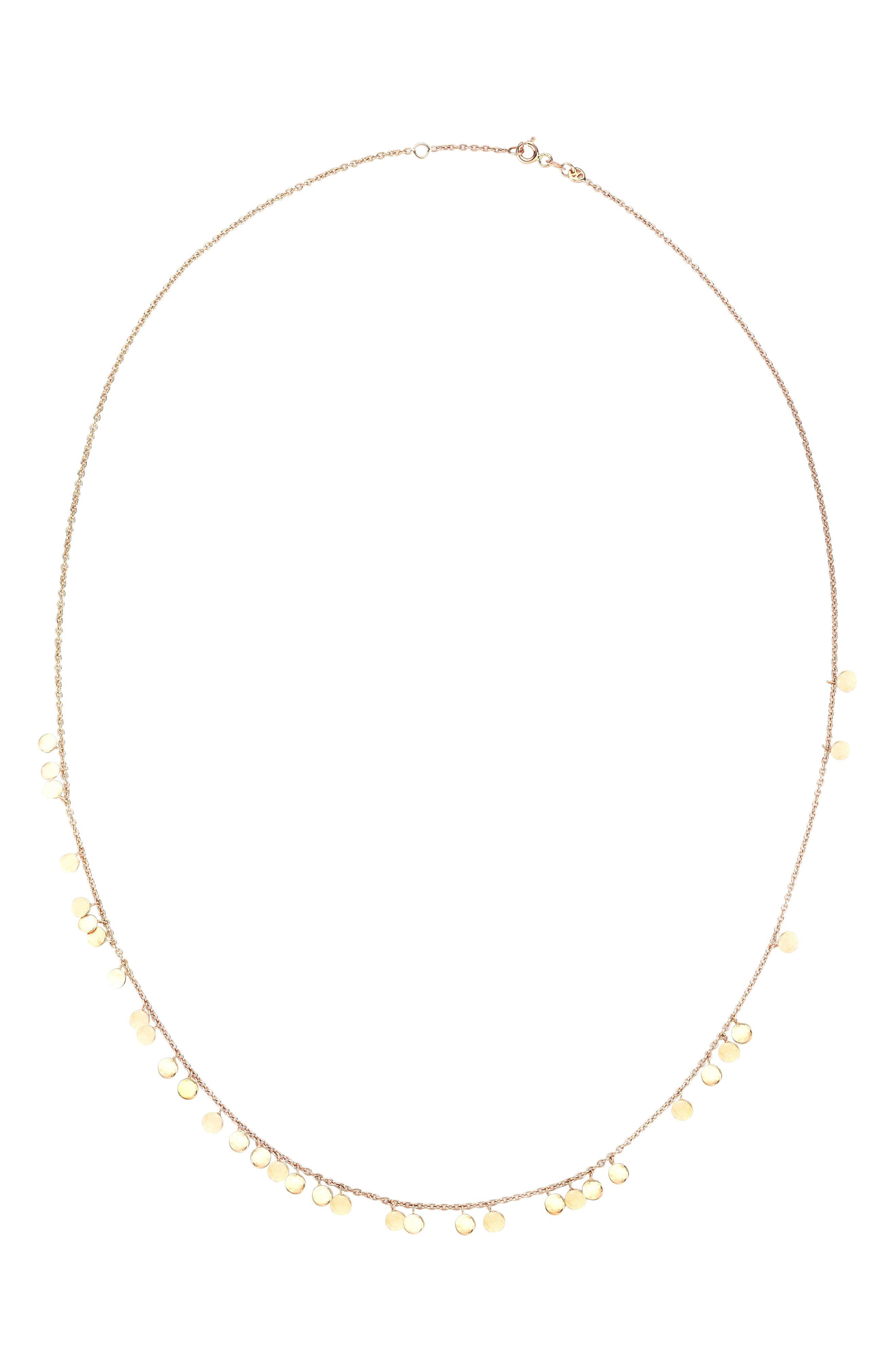 Dangling Circles Pendant Necklace,                             Alternate thumbnail 2, color,                             ROSE GOLD
