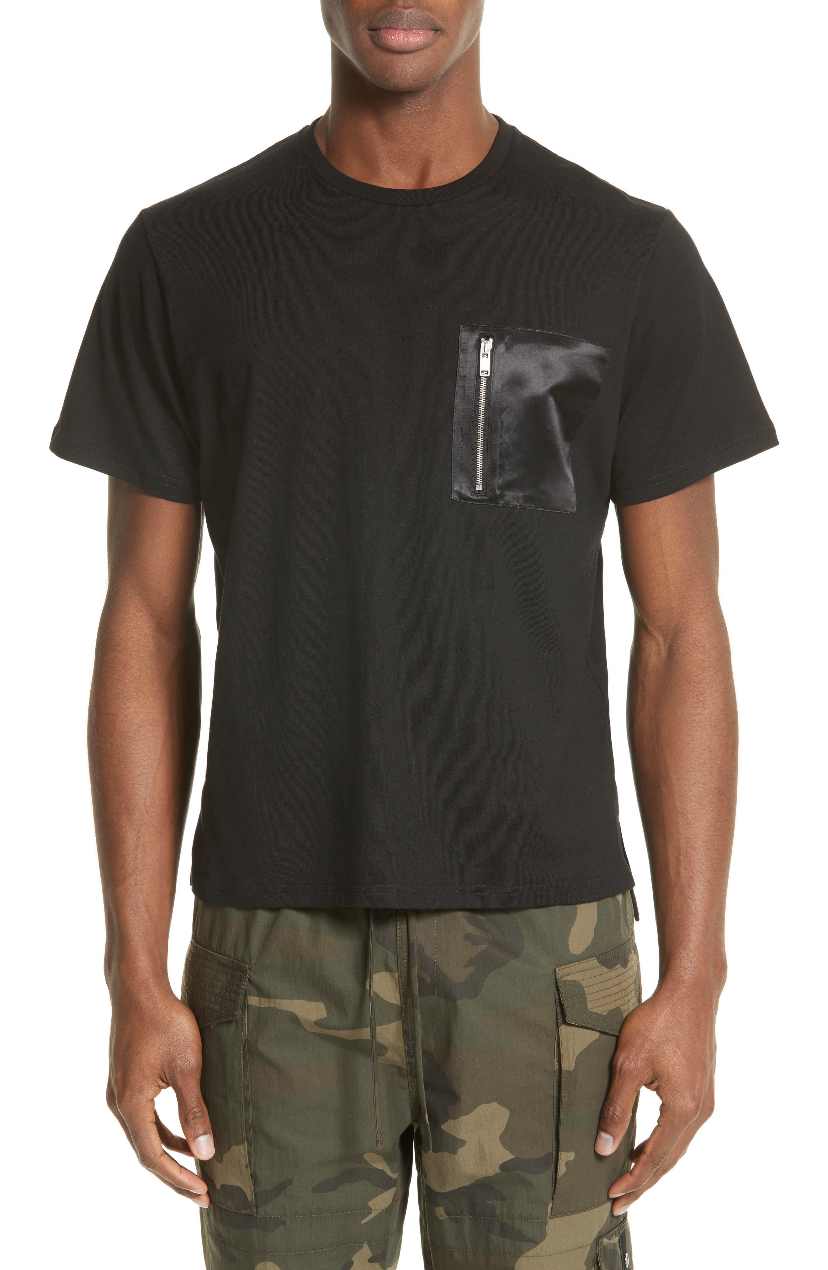 Zip Pocket T-Shirt,                             Main thumbnail 1, color,                             BLACK