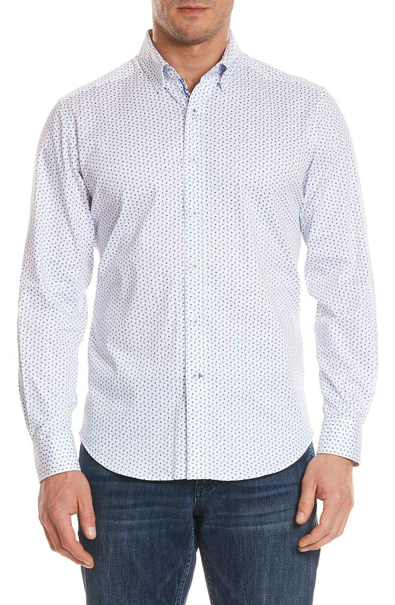 ROBERT GRAHAM,                             Mitchel Tailored Fit Sport Shirt,                             Main thumbnail 1, color,                             400