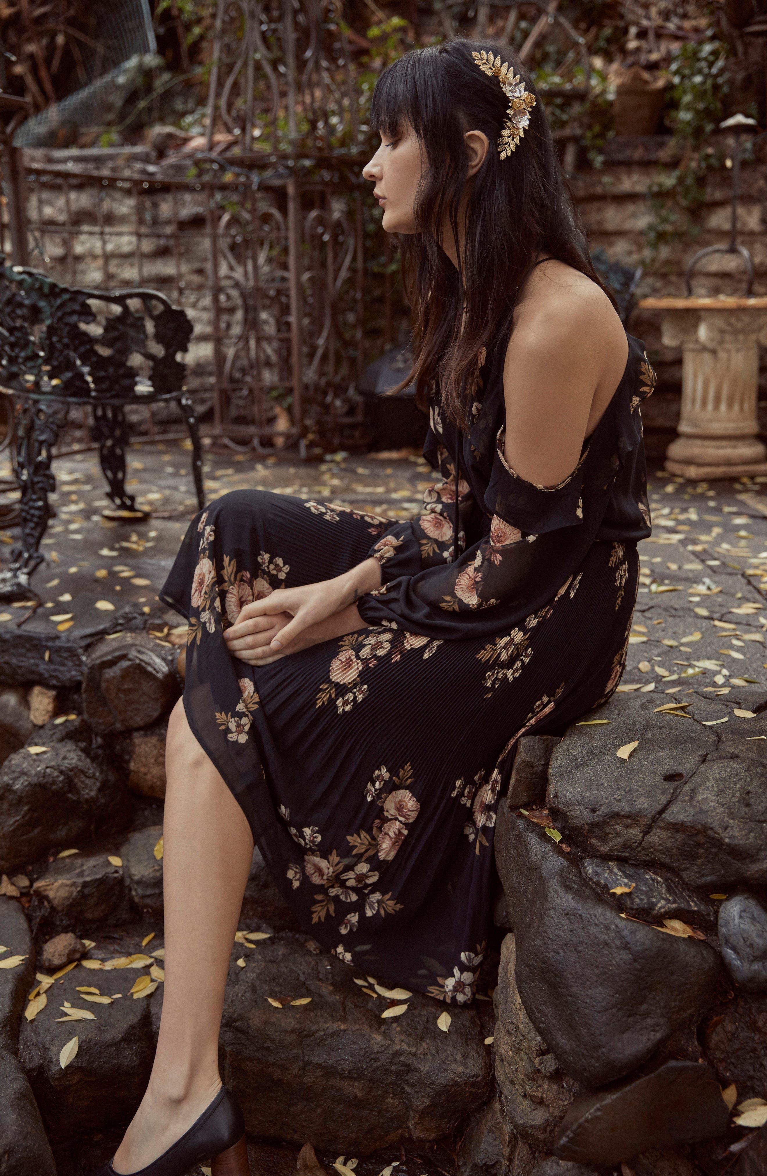 Persephone Cold Shoulder Dress,                             Alternate thumbnail 7, color,