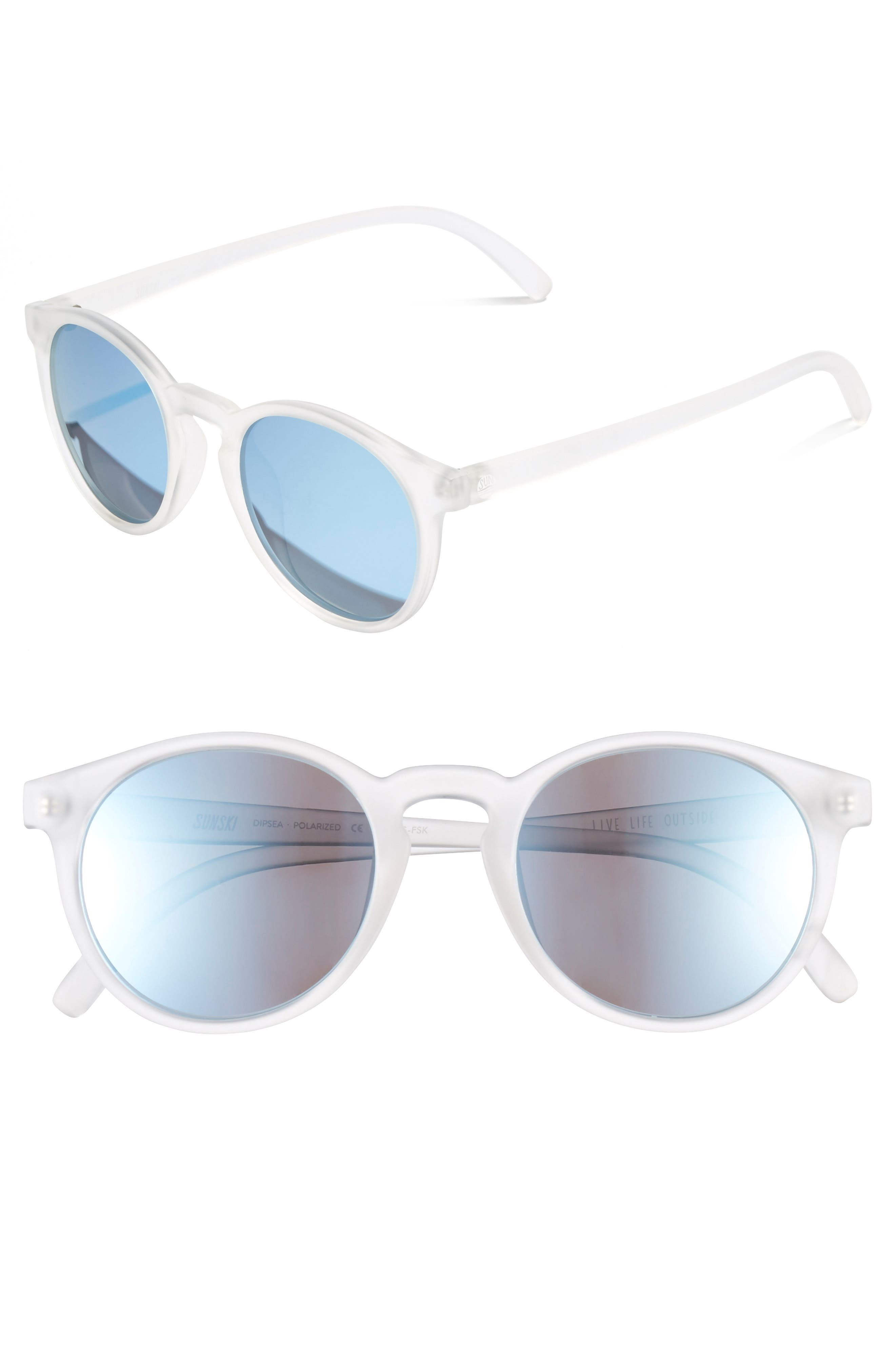 Dipsea 48mm Polarized Sunglasses,                             Alternate thumbnail 2, color,                             FROSTED SKY