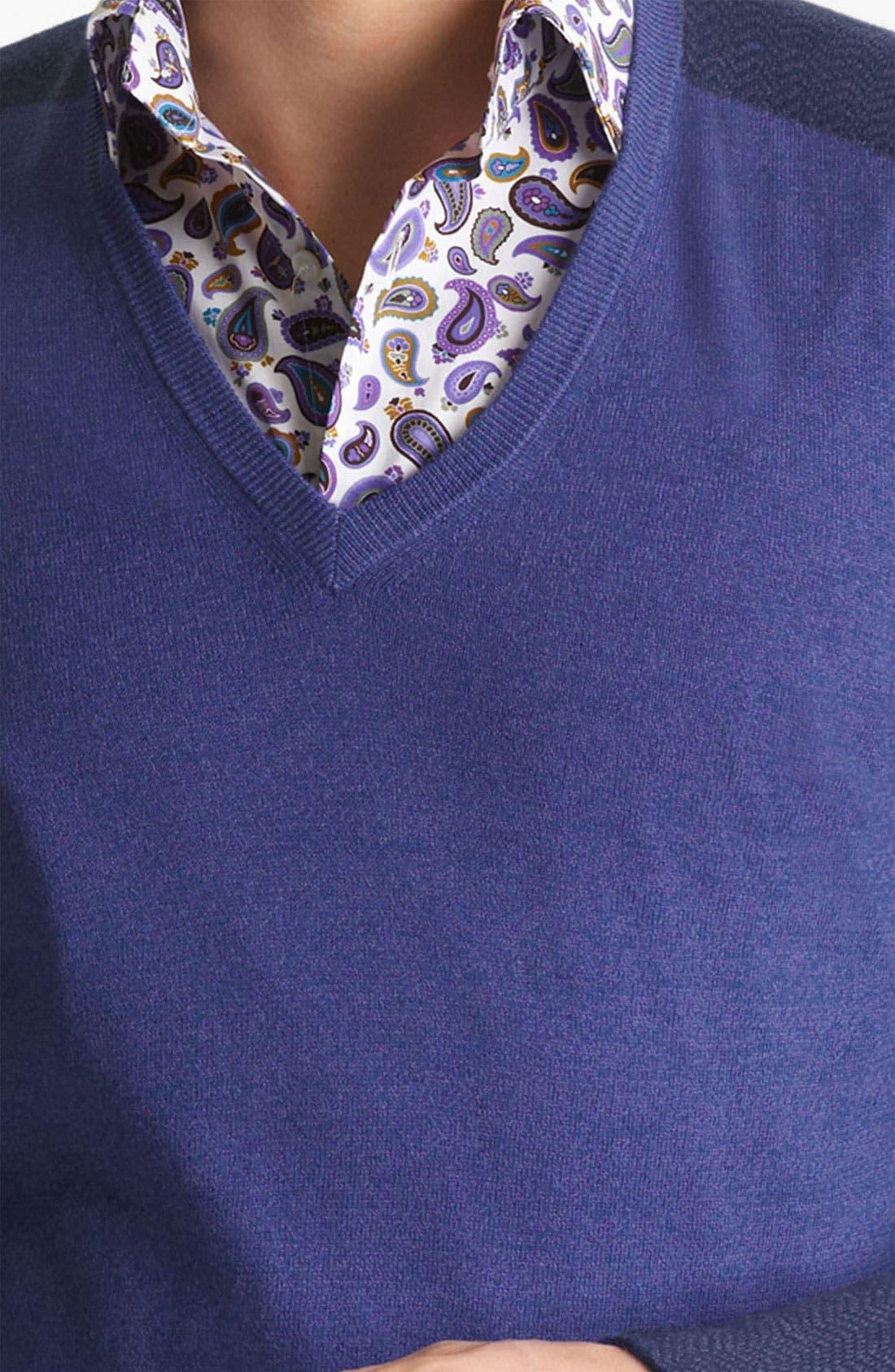 V-Neck Sweater,                             Alternate thumbnail 4, color,                             400