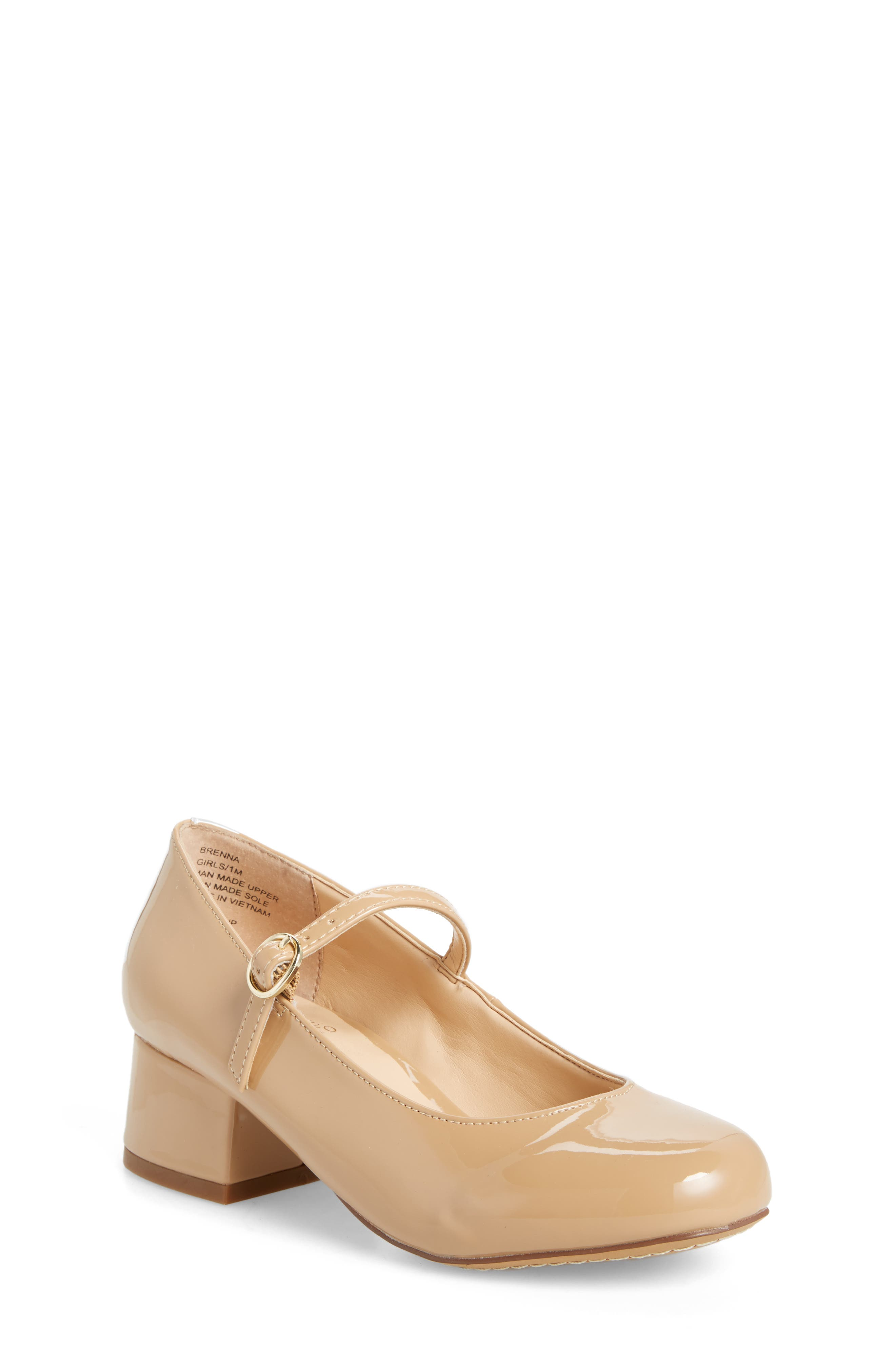 Brenna Mary Jane Pump,                         Main,                         color, NUDE PATENT