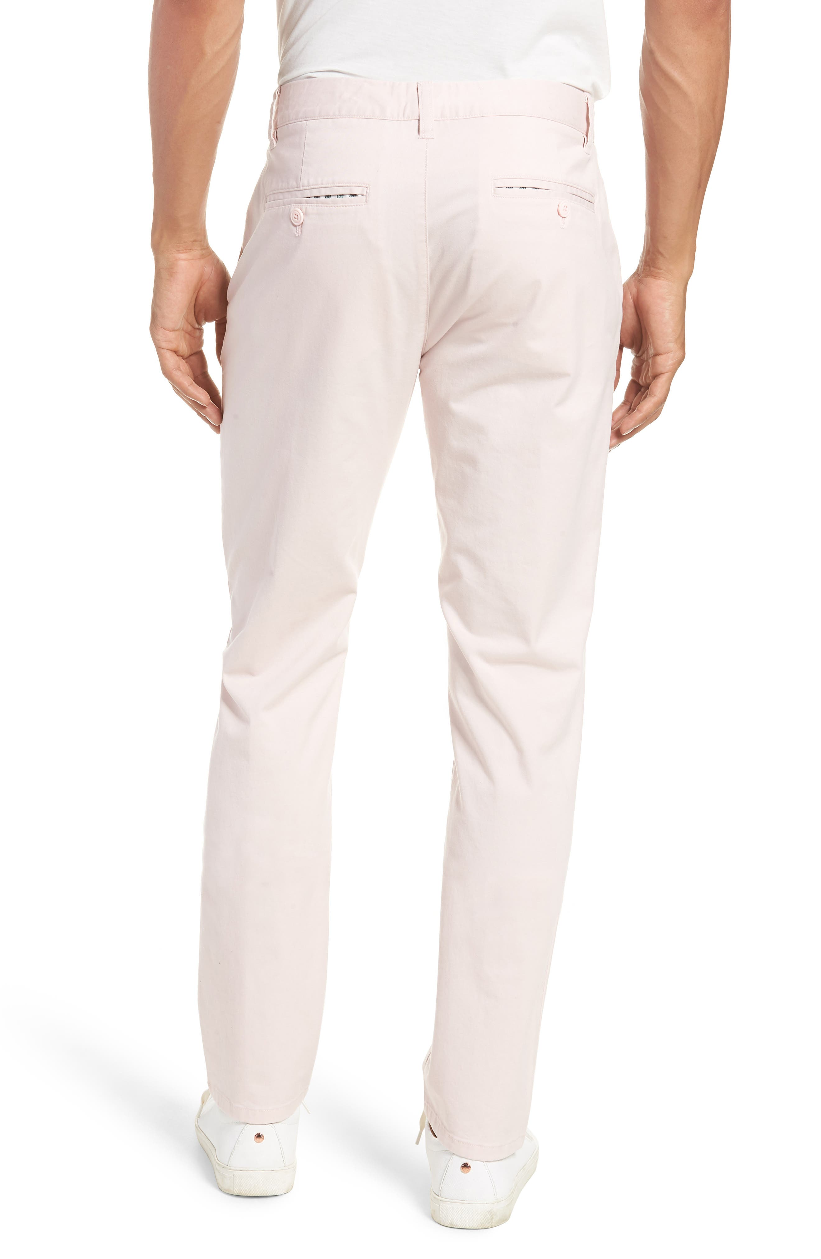 Tailored Fit Washed Stretch Cotton Chinos,                             Alternate thumbnail 54, color,