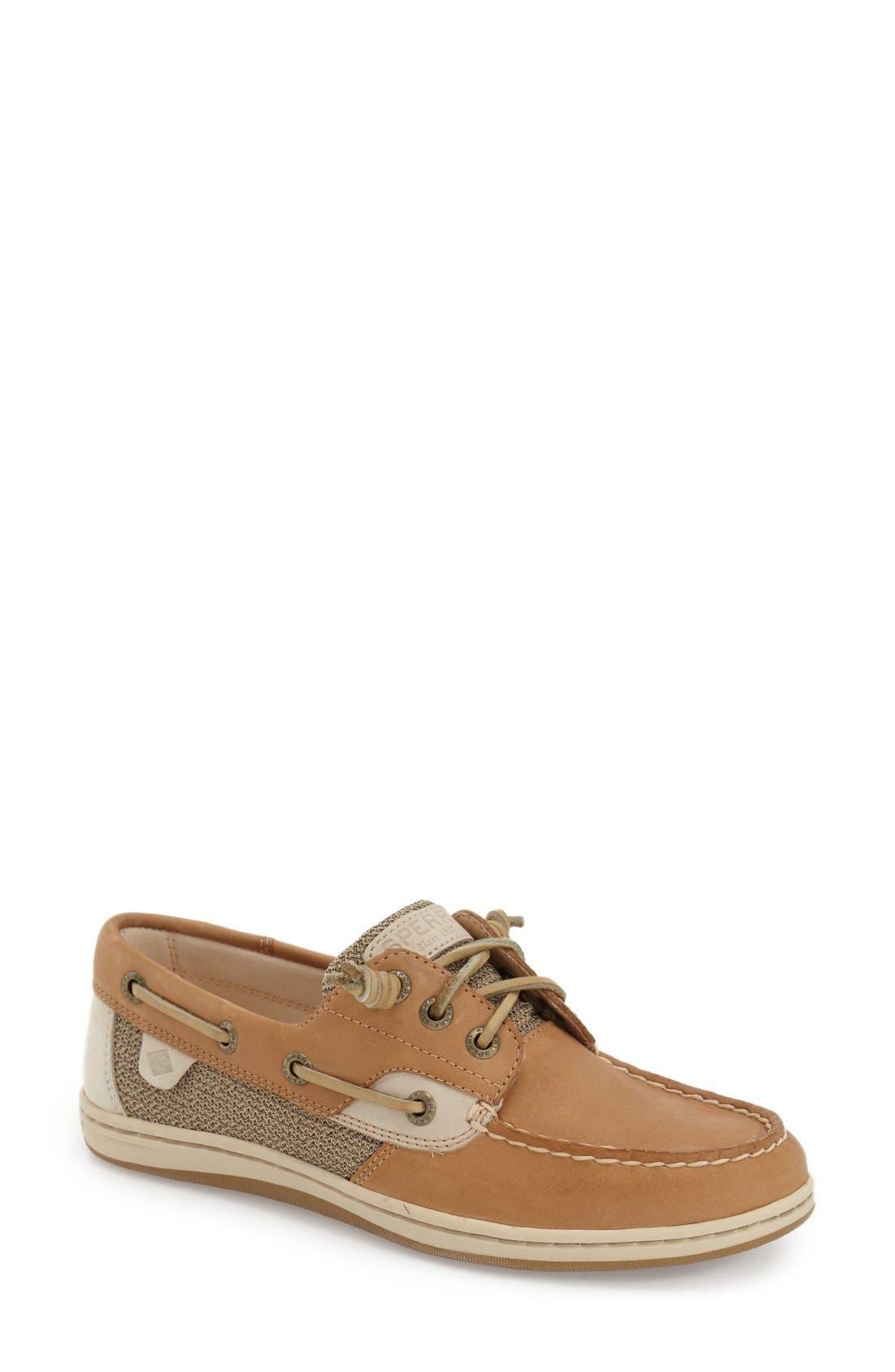 'Songfish' Boat Shoe,                         Main,                         color, LINEN/ OAT