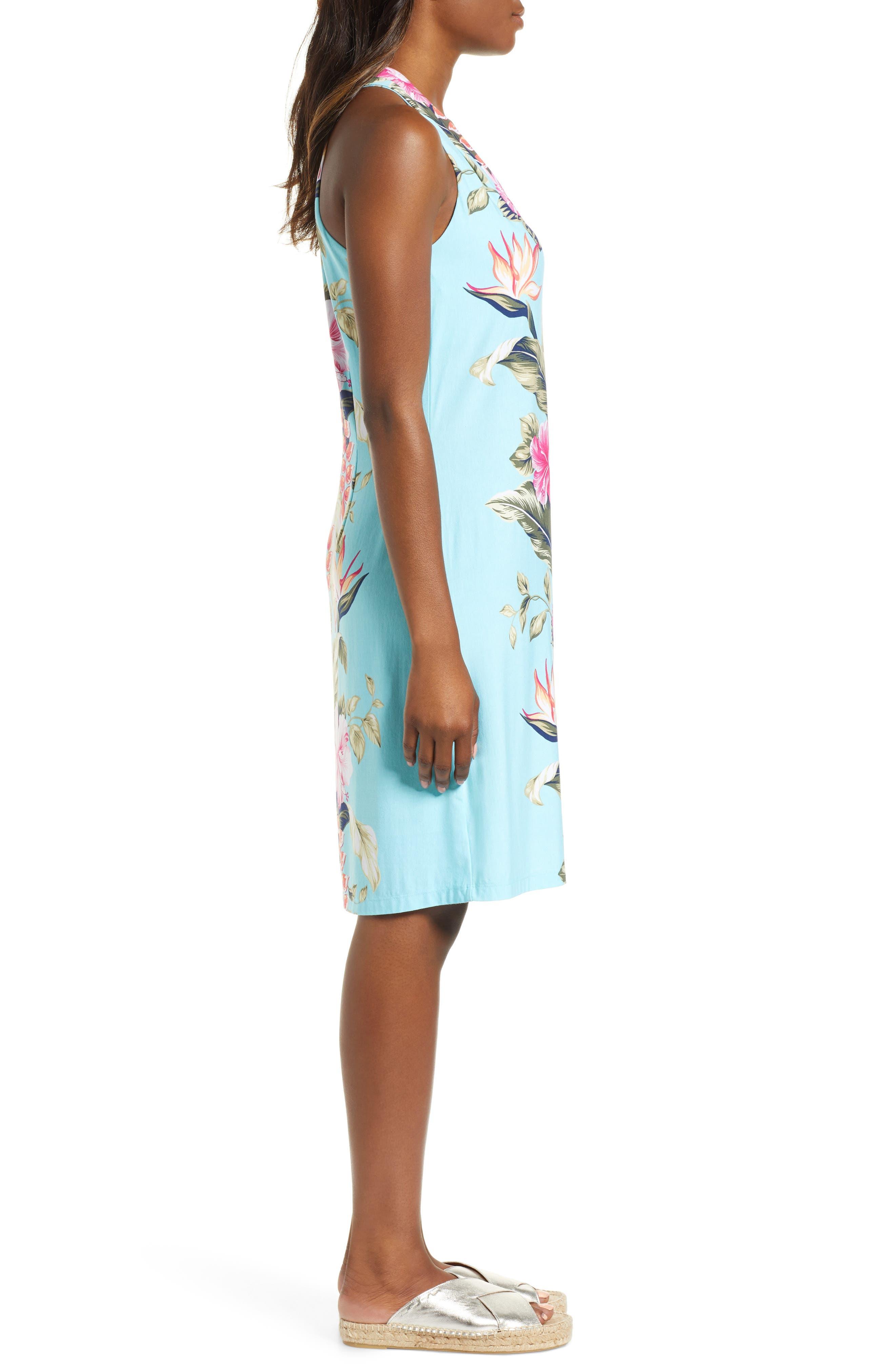 Kahuna Cascade Dress,                             Alternate thumbnail 3, color,                             BLUE SWELL