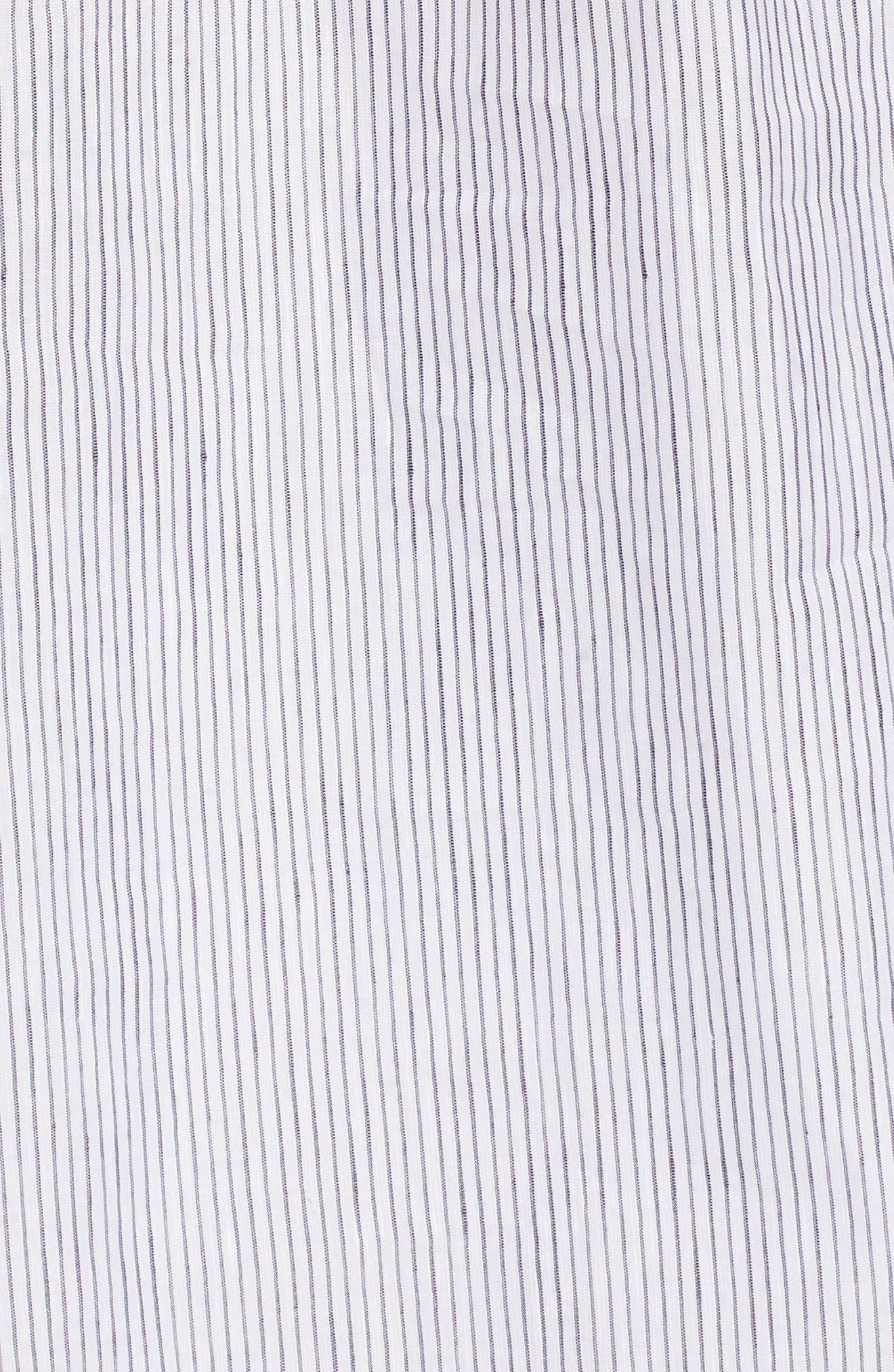 Stripe Popover Shirt,                             Alternate thumbnail 6, color,                             100