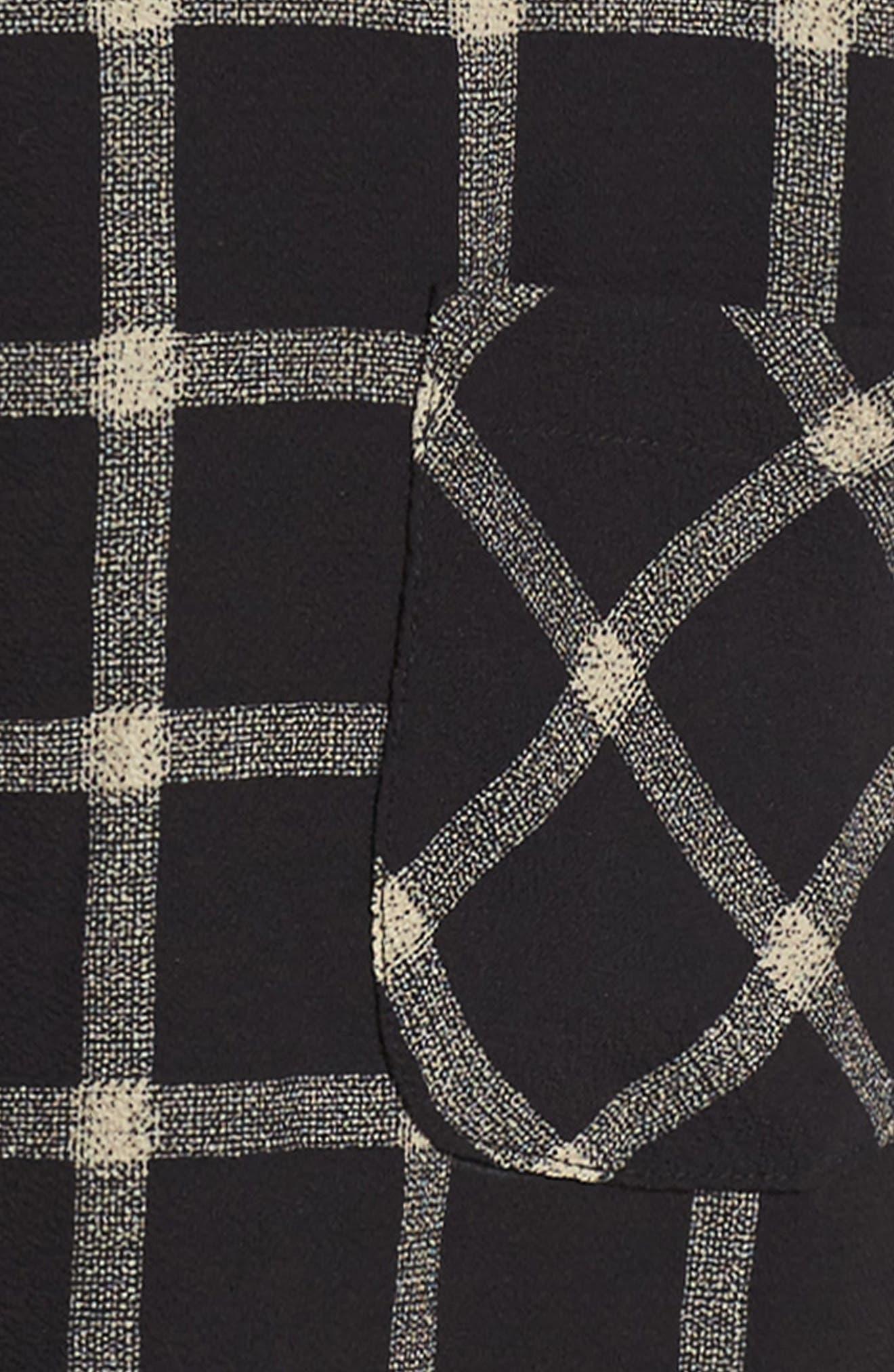 Plaid Top & Jumper Dress Set,                             Alternate thumbnail 3, color,                             006