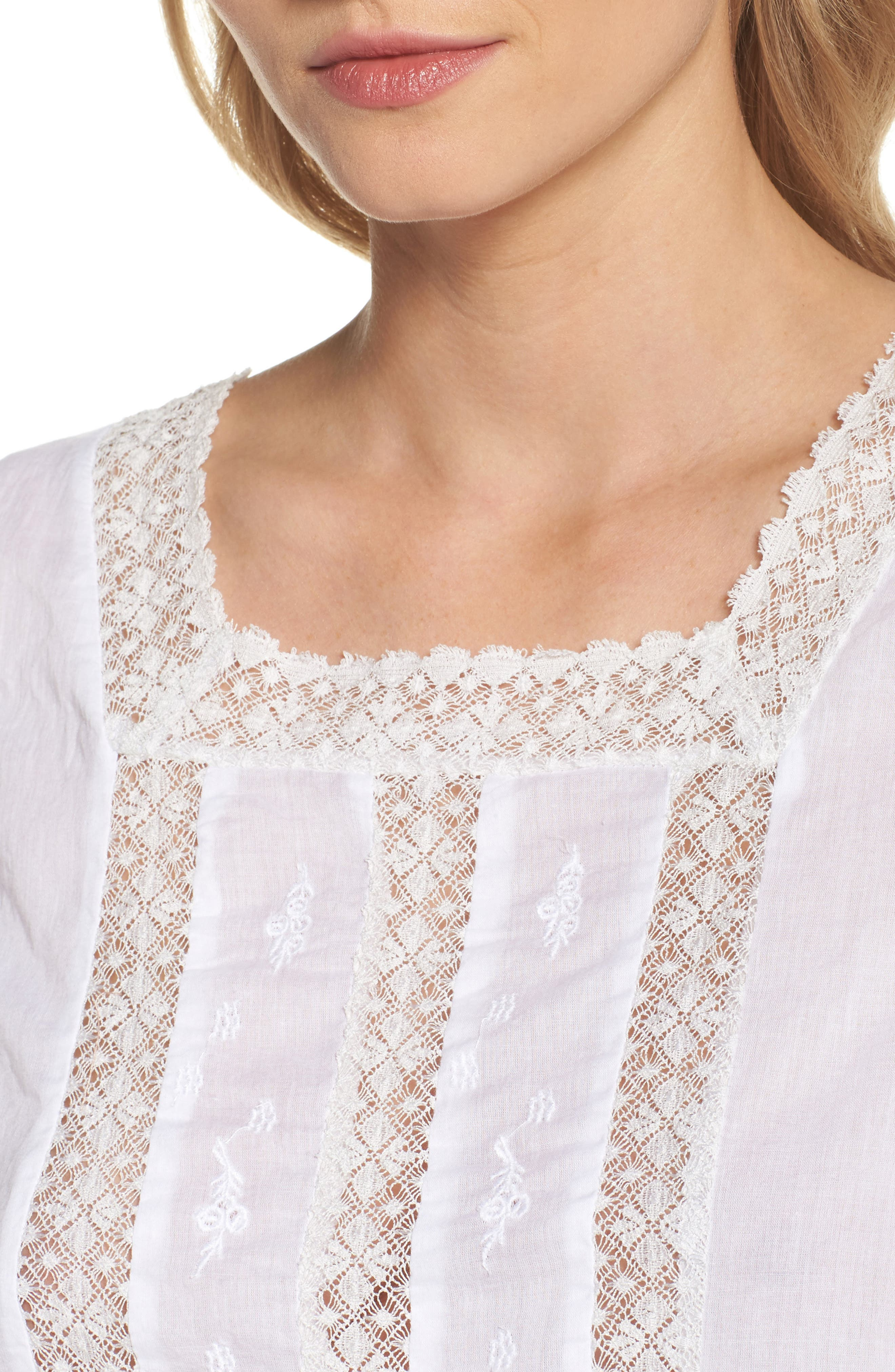 Embroidered Top,                             Alternate thumbnail 4, color,                             100